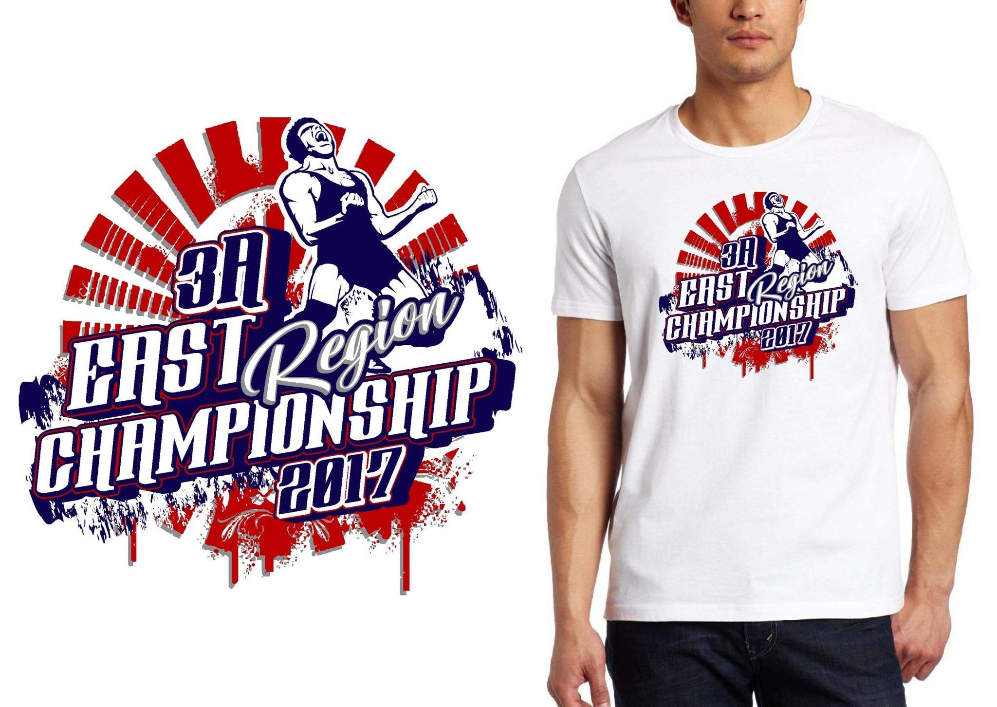 LOGO for 3A East Region Championship Wrestling T-SHIRT UrArtStudio