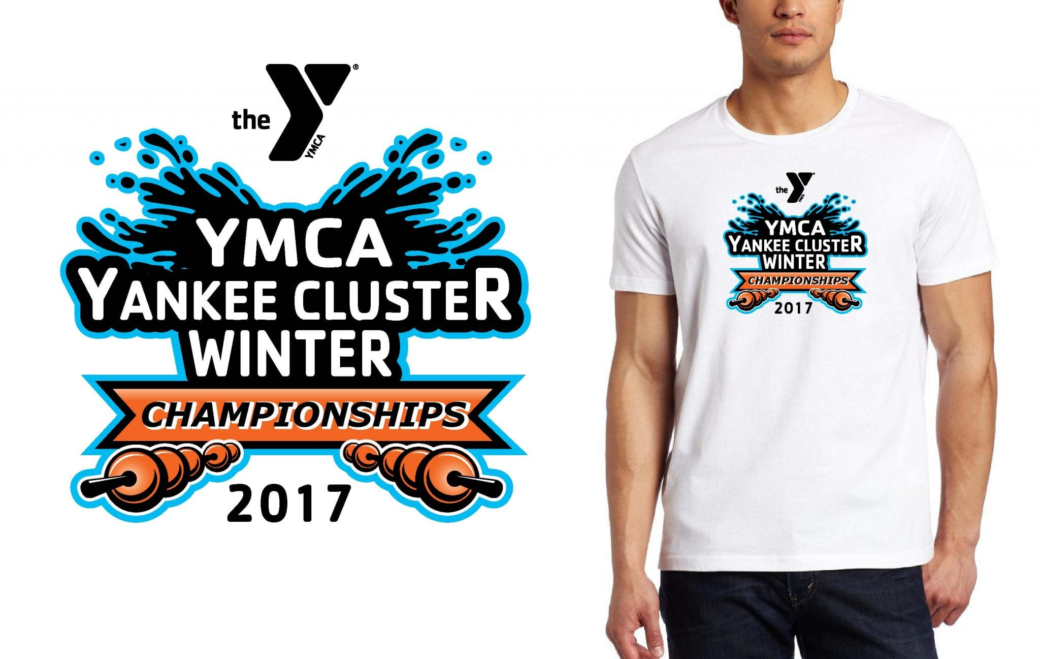 SWIMMING T SHIRT LOGO DESIGN YMCA-Yankee-Cluster-Championship BY UrArtStudio