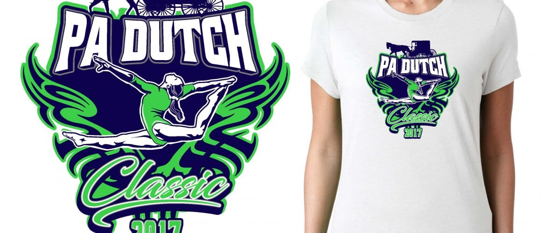 2017 PA Dutch Classic vector logo design for gymnastics t-shirt UrArtStudio