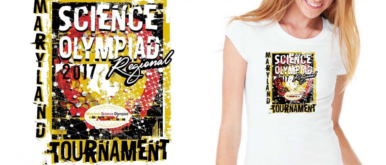 2017 Maryland Science Olympiad Regional Final Tournament vector logo design for t-shirt UrArtStudio