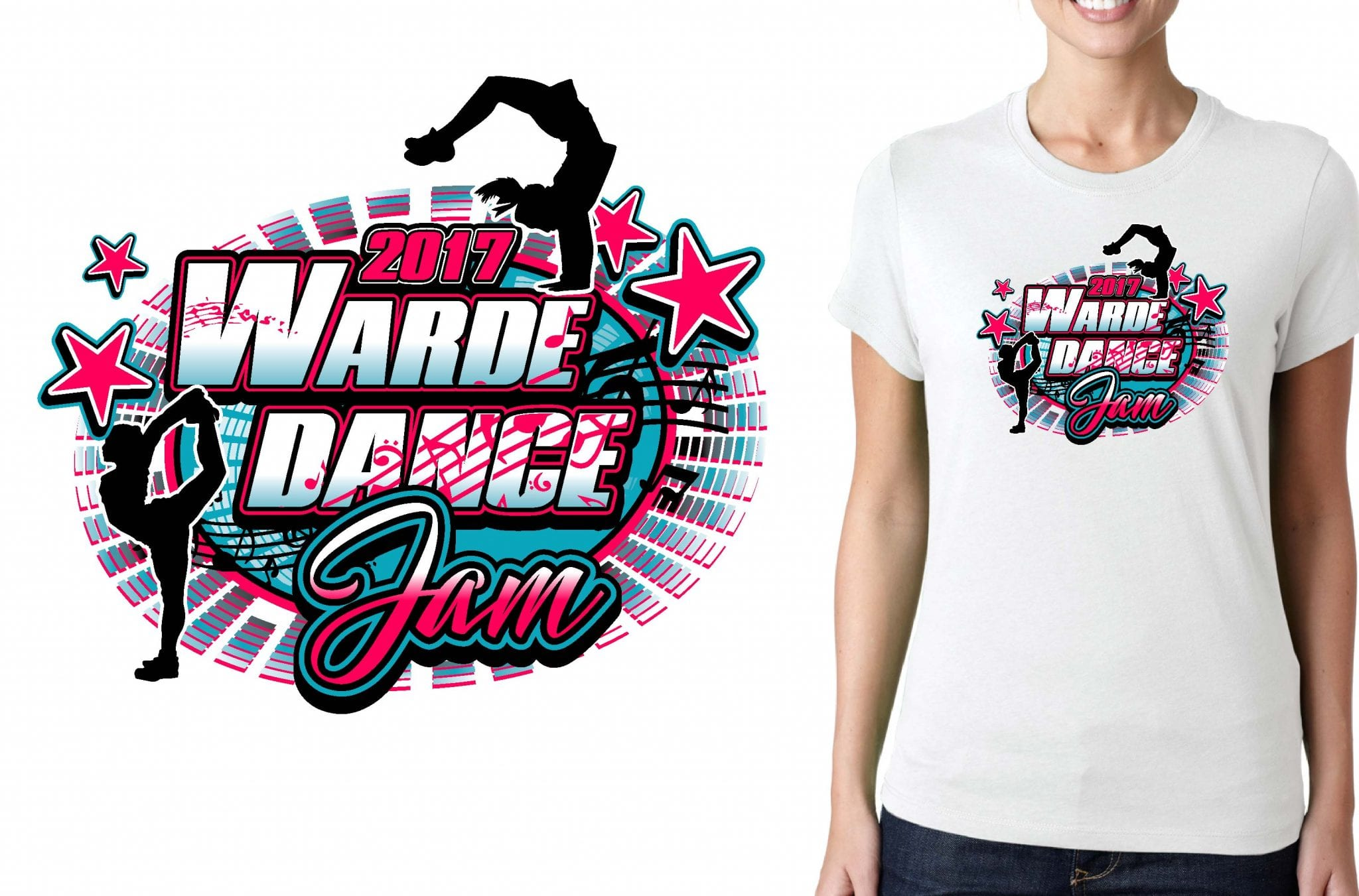 CHEER T SHIRT LOGO DESIGN Warde-Dance-Jam BY UrArtStudio