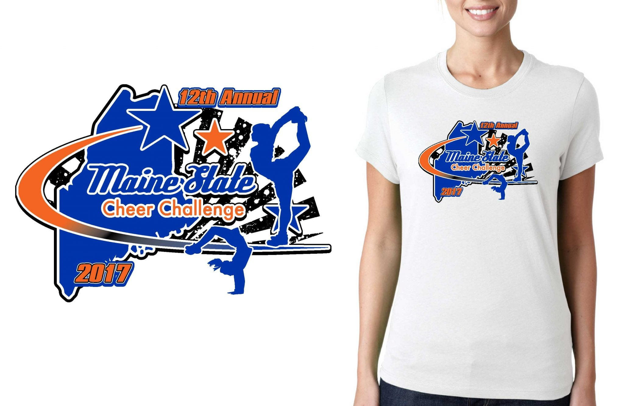 CHEER T SHIRT LOGO DESIGN 12th-Annual-Maine-State-Cheer-Challenge BY UrArtStudio