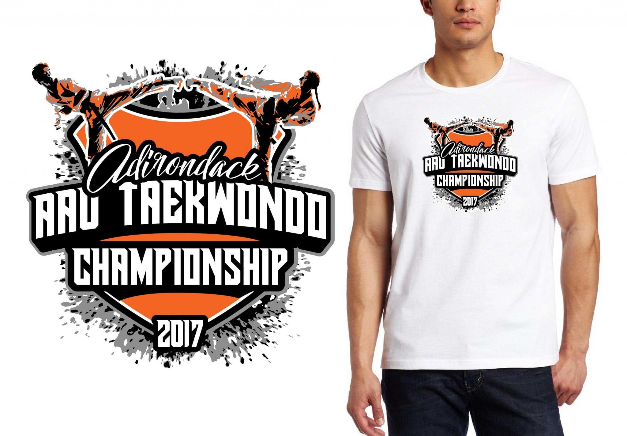 TAEKWONDO LOGO for Adirondack-AAU-Taekwondo-Championship T-SHIRT UrArtStudio