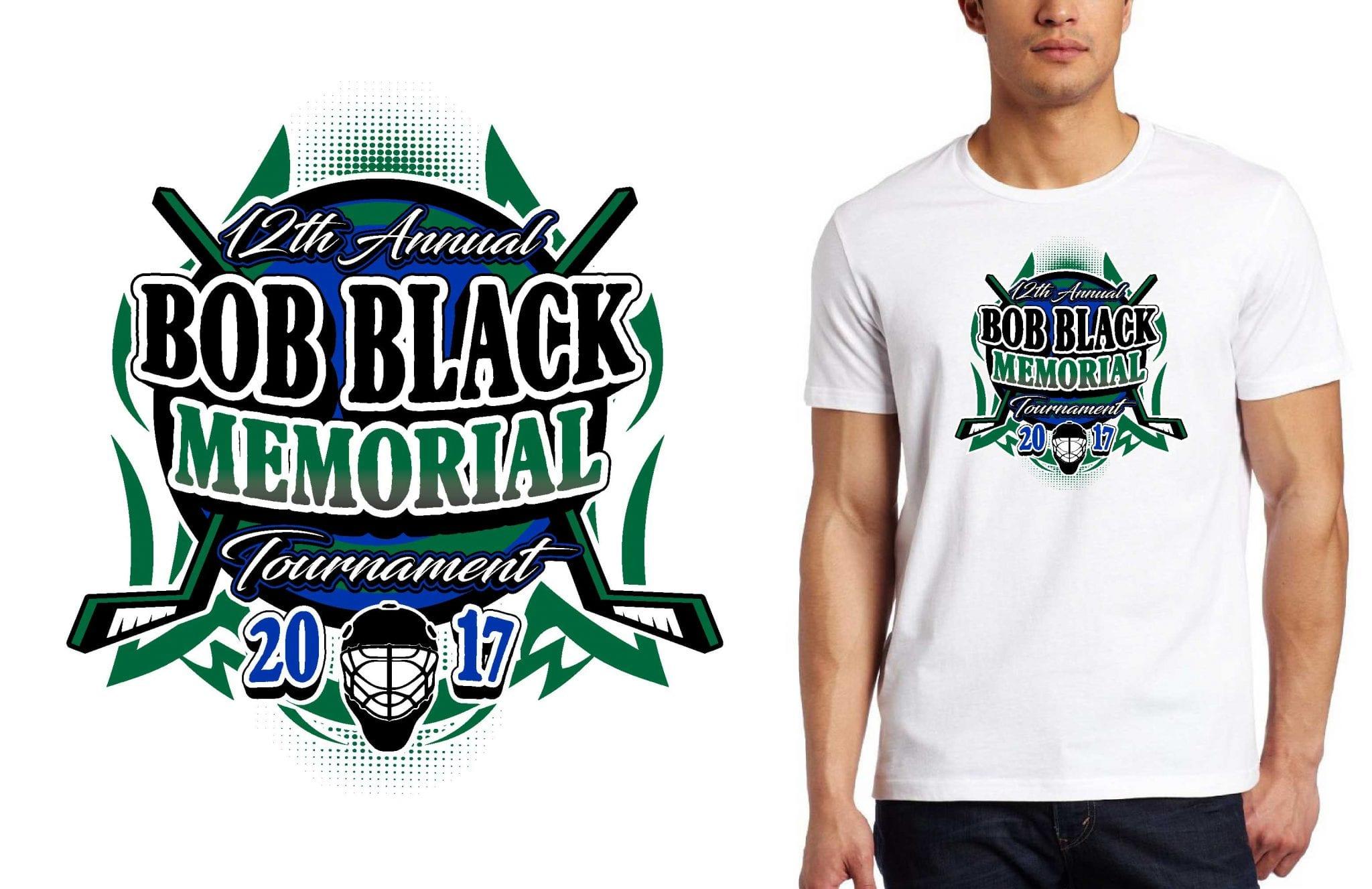 Hockey Logo For 12th Annual Bob Black Memorial Tournament T Shirt