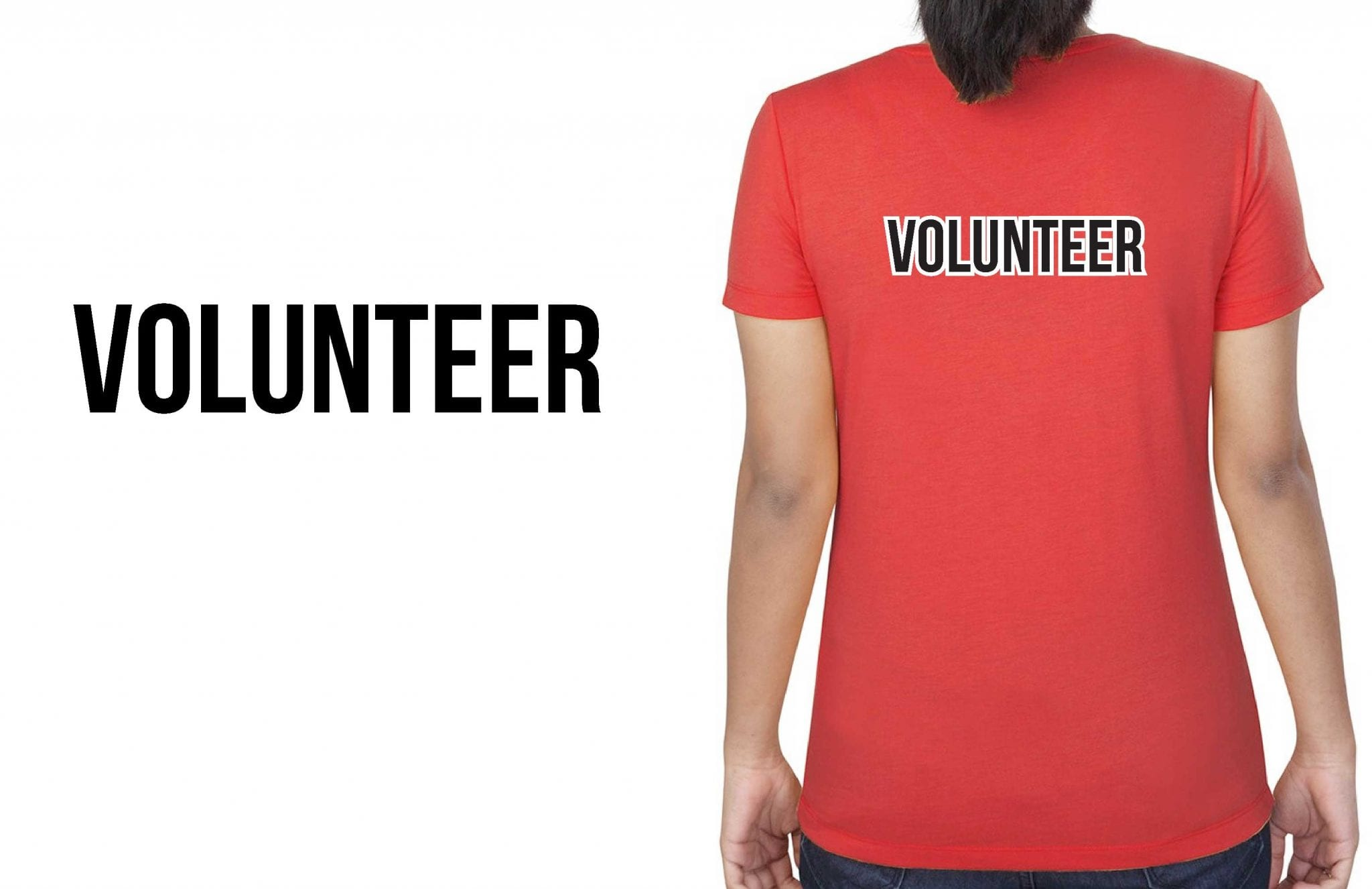 T SHIRT VECTOR DESIGN FOR VOLUNTEERS