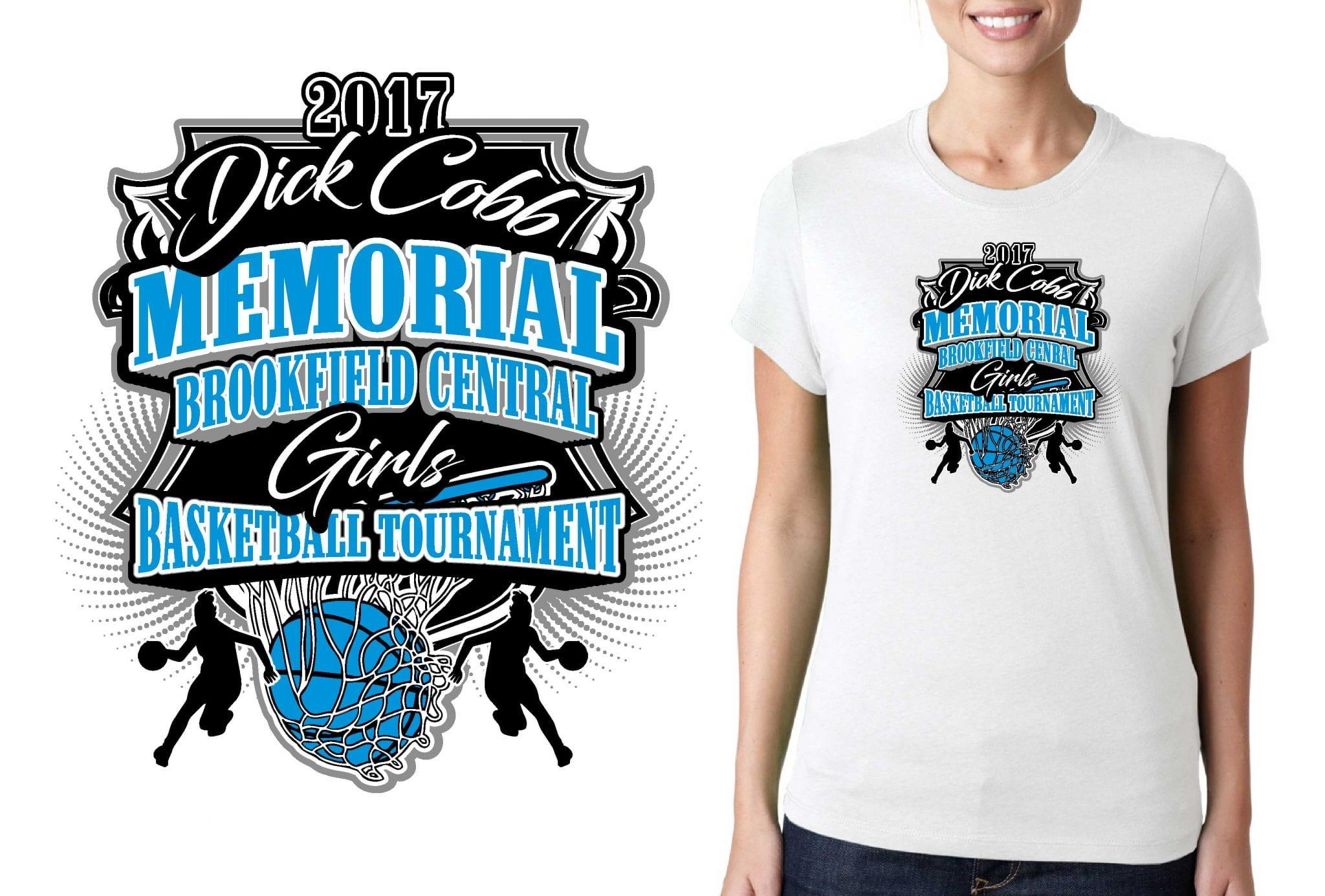 2017 Dick Cobb Memorial Brookfield Central Girls Basketball vector logo design for t-shirt urartstudio.com