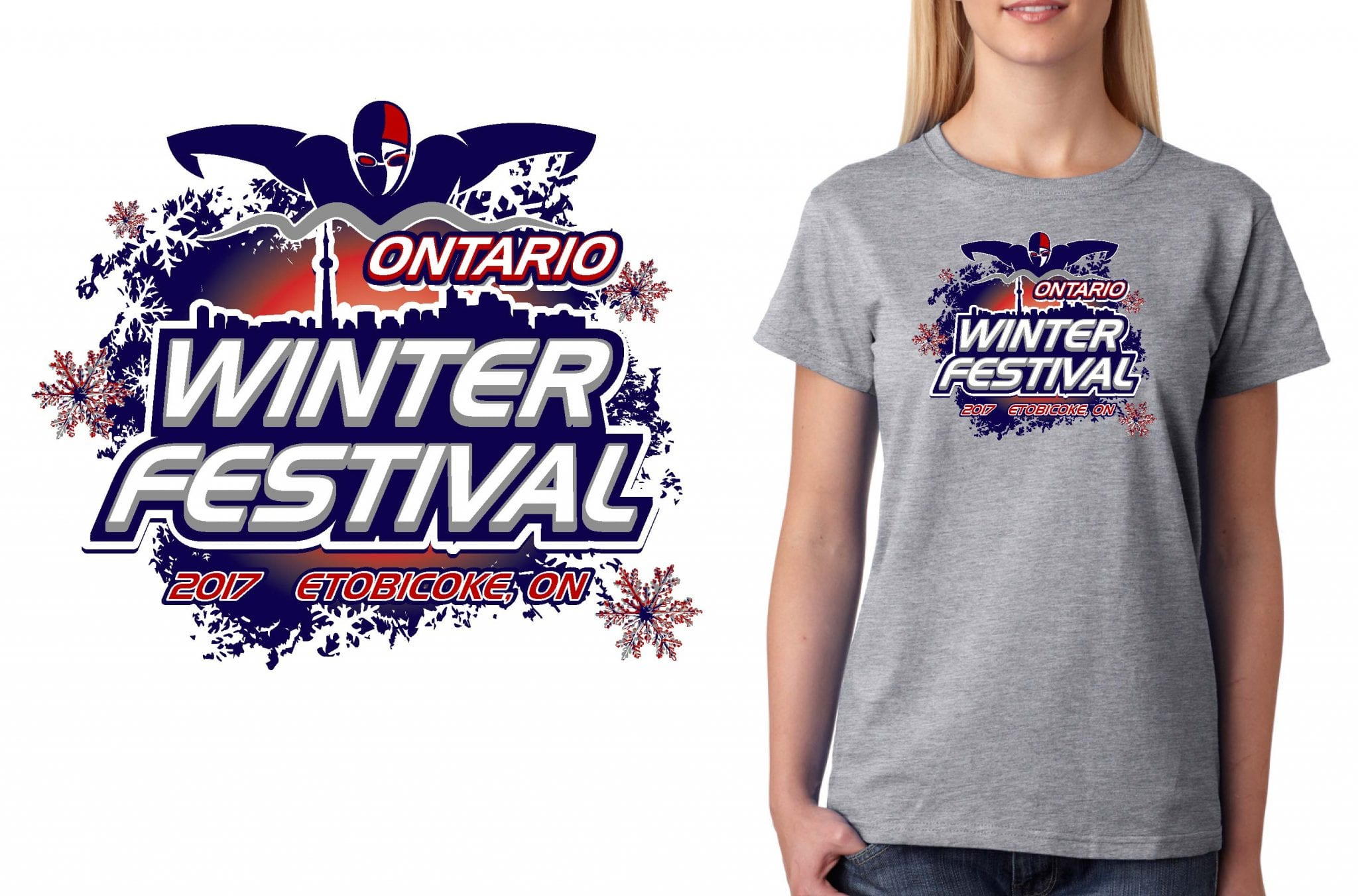 SWIMMING T SHIRT LOGO DESIGN Swim-Ontario-Winter-Festival BY UrArtStudio