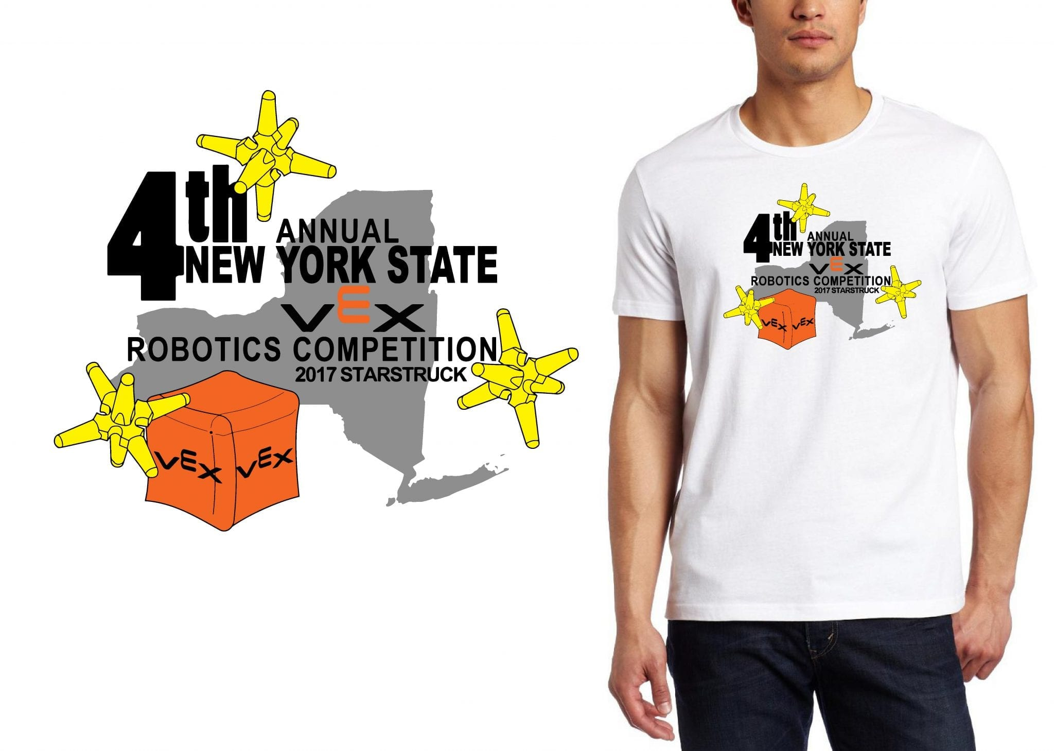 ROBOTICS LOGO for 4th-Annual-Northern-New-York-State-Championship T-SHIRT UrArtStudio
