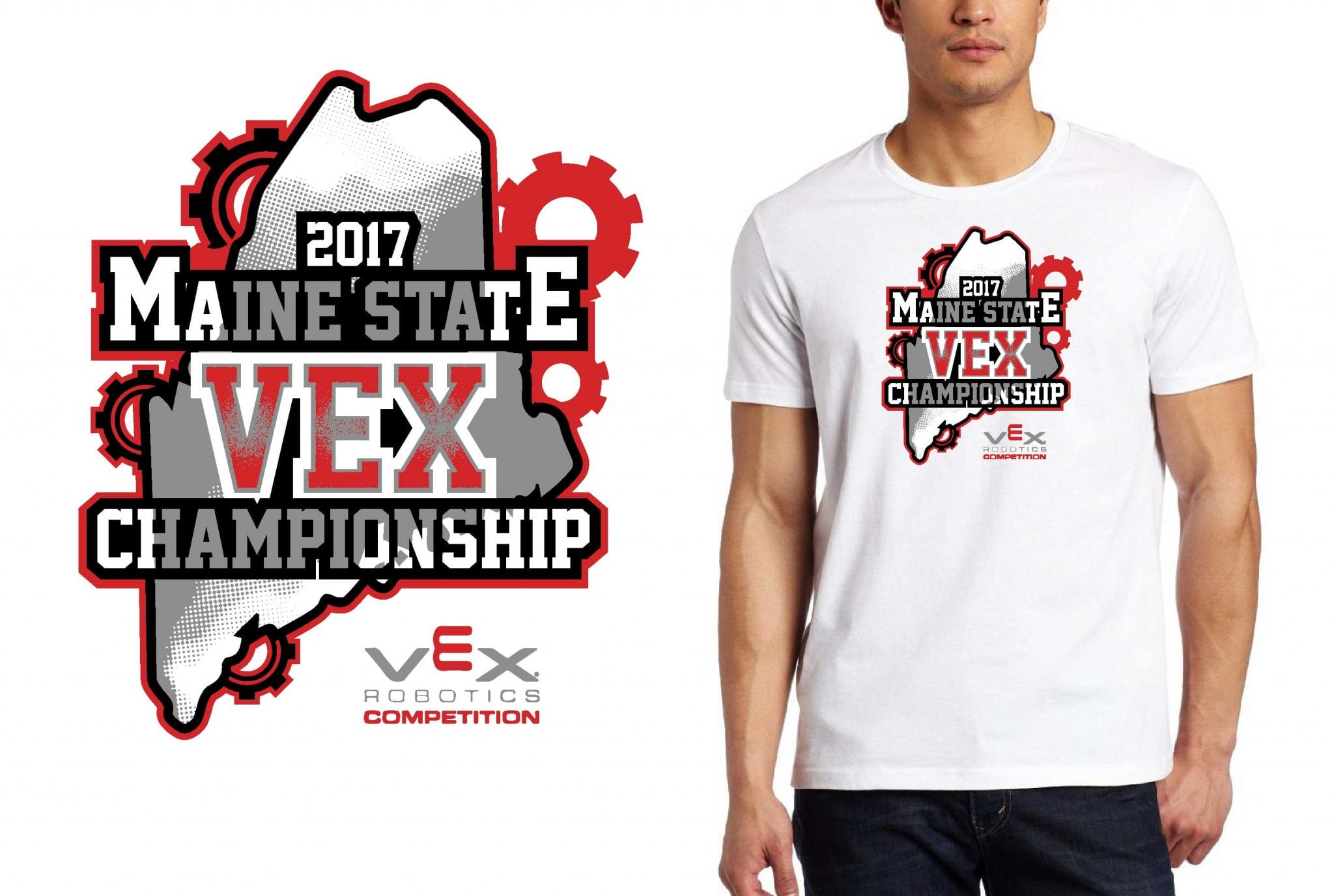ROBOTICS T SHIRT LOGO DESIGN 8th-Annual-Maine-State-VEX-Championship BY UrArtStudio