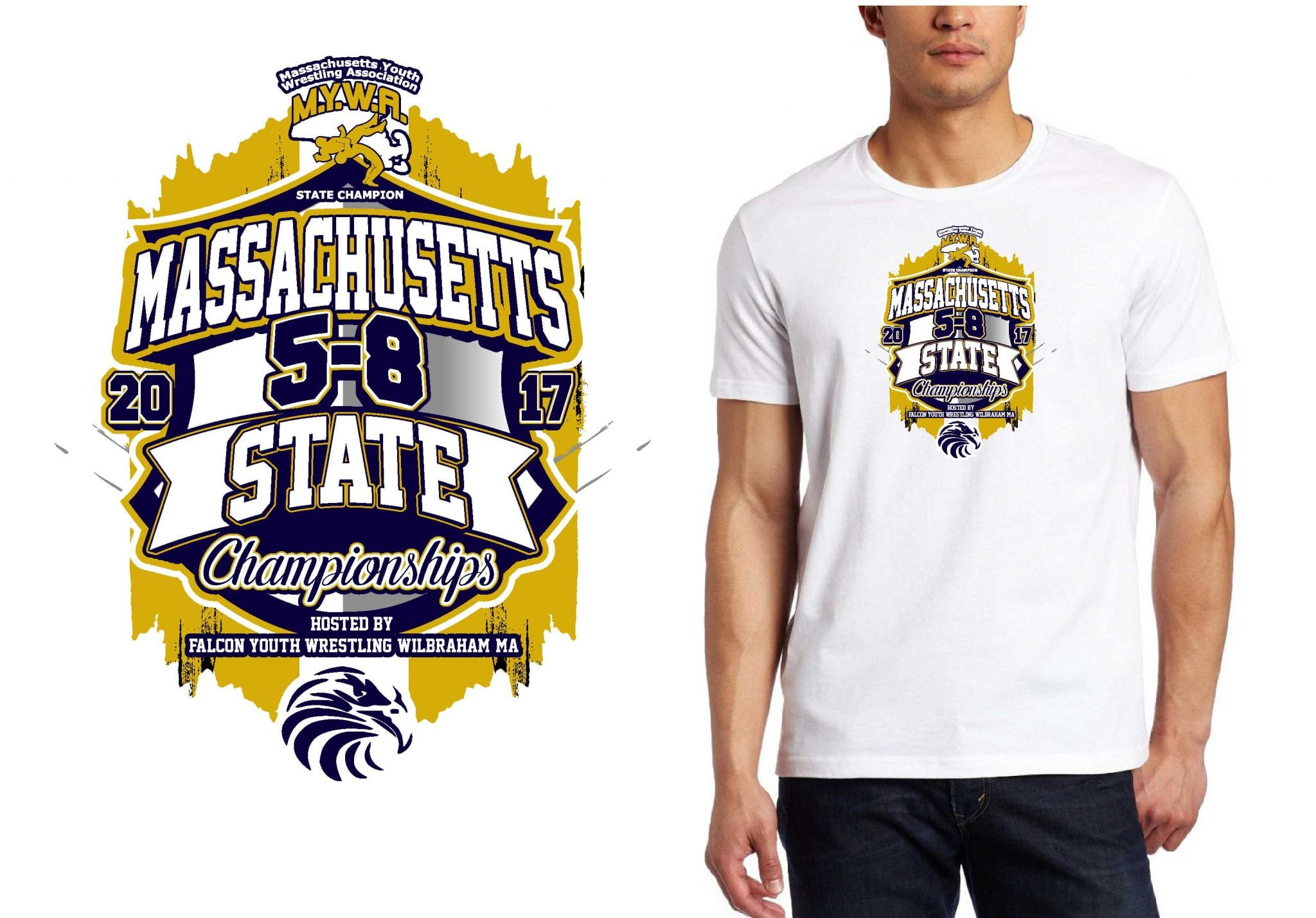 WRESTLING T SHIRT LOGO DESIGN Youth-State-Championship BY UrArtStudio