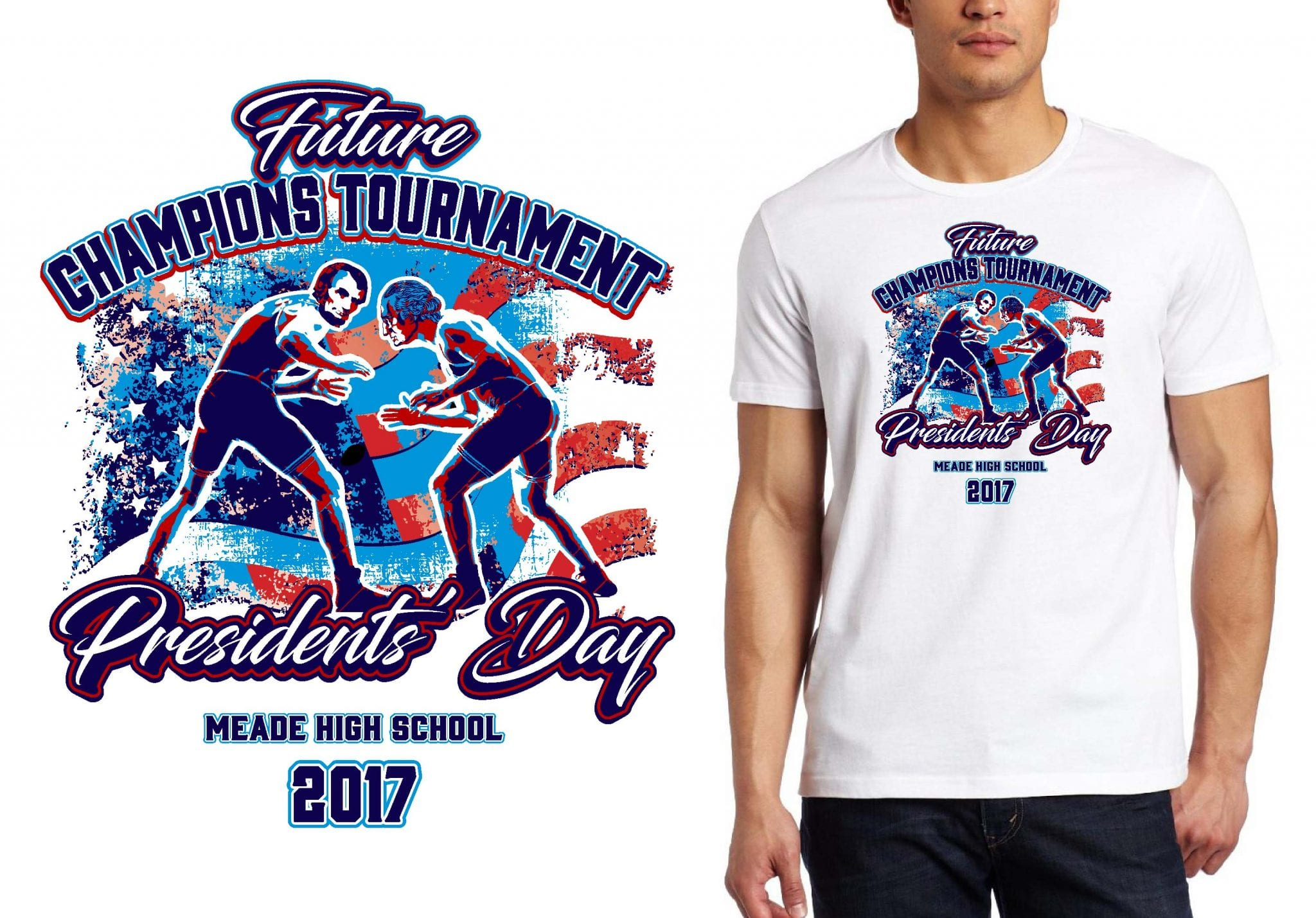 Wrestling t shirt logo design future champions tournament for Wrestling tournament t shirt designs