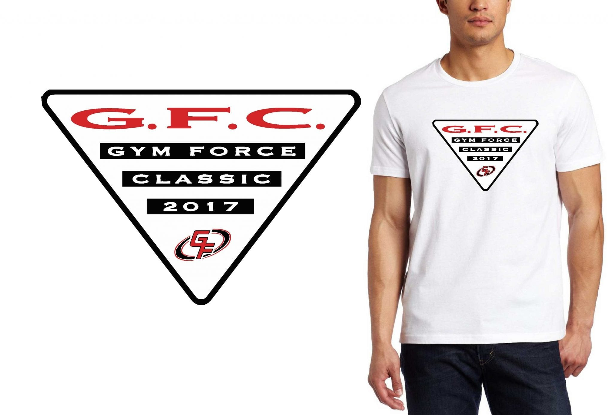 GYMNASTICS T SHIRT LOGO DESIGN Gym-Force-Classic BY UrArtStudio