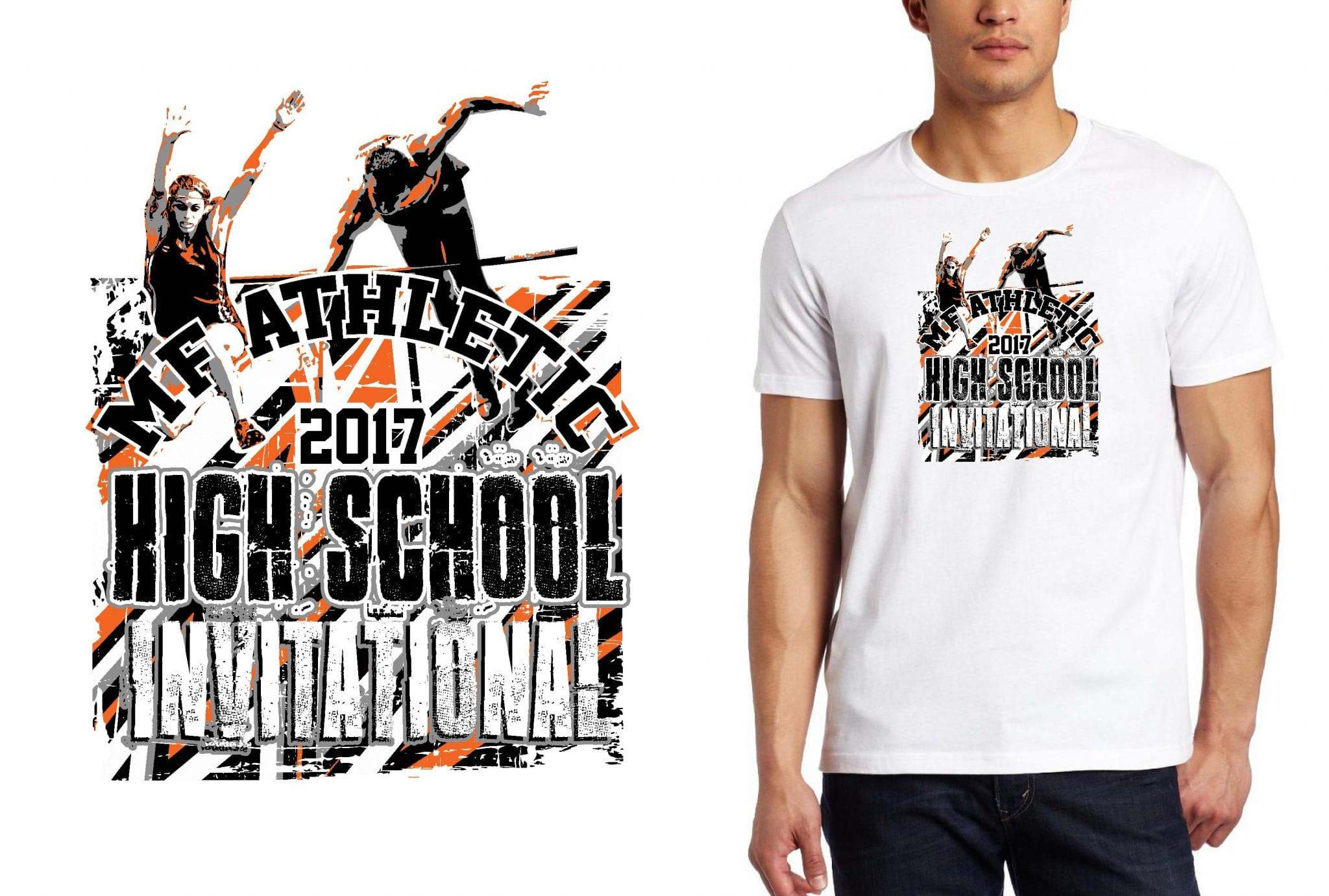 TRACK LOGO for M F Athletic High School Invitational T-SHIRT UrArtStudio