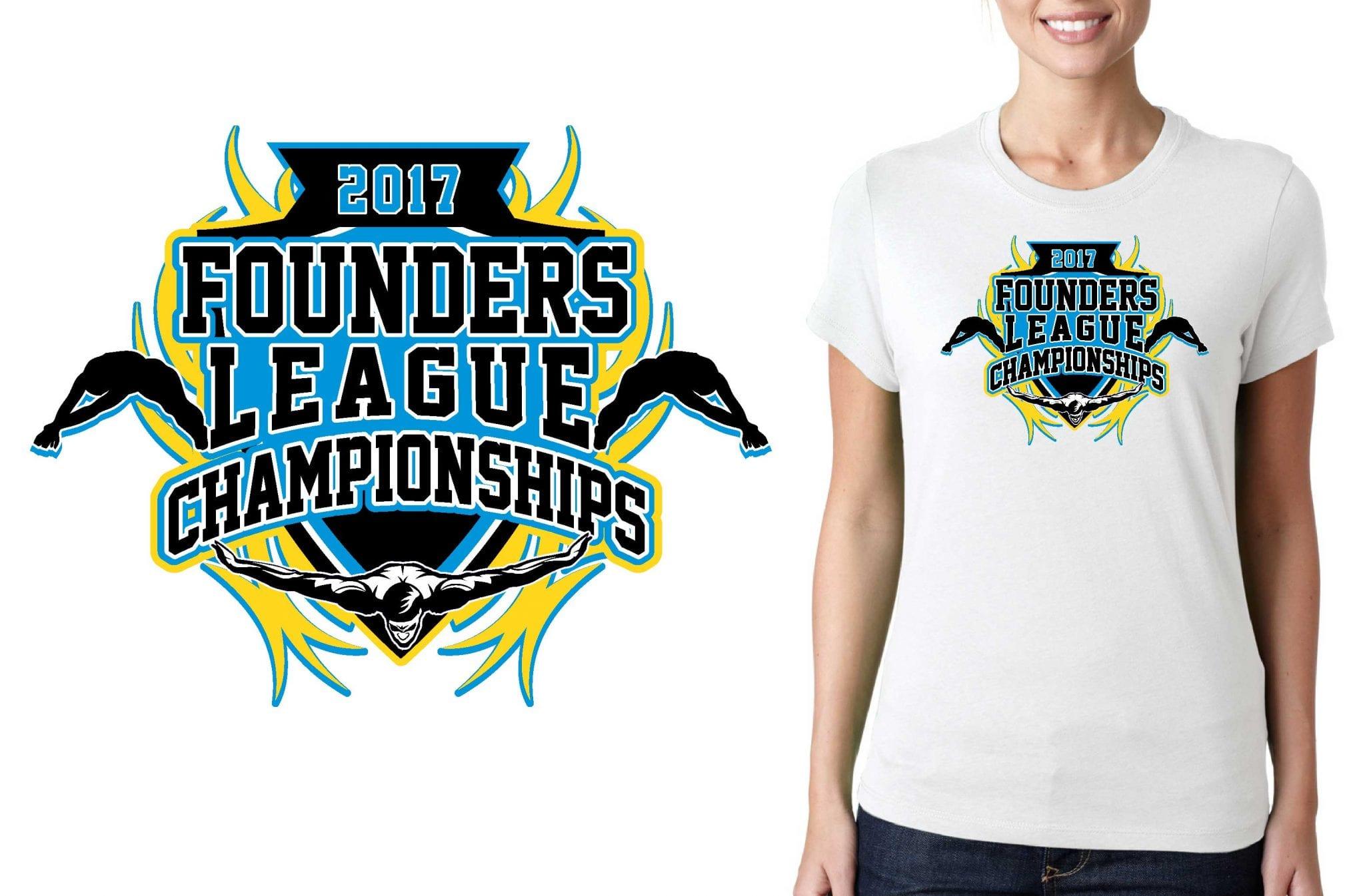 SWUN TSHIRT LOGO DESIGN Founders-League-Championships UrArtStudio