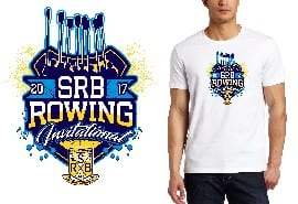 ROWING REGATTA TSHIRT LOGO DESIGN SRB-Rowing-Invitational UrArtStudio