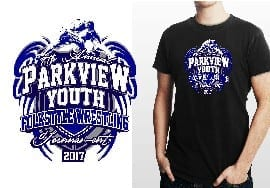WRESTLING TSHIRT LOGO DESIGN Parkview-Youth-7th-Annual-Folkstyle UrArtStudio