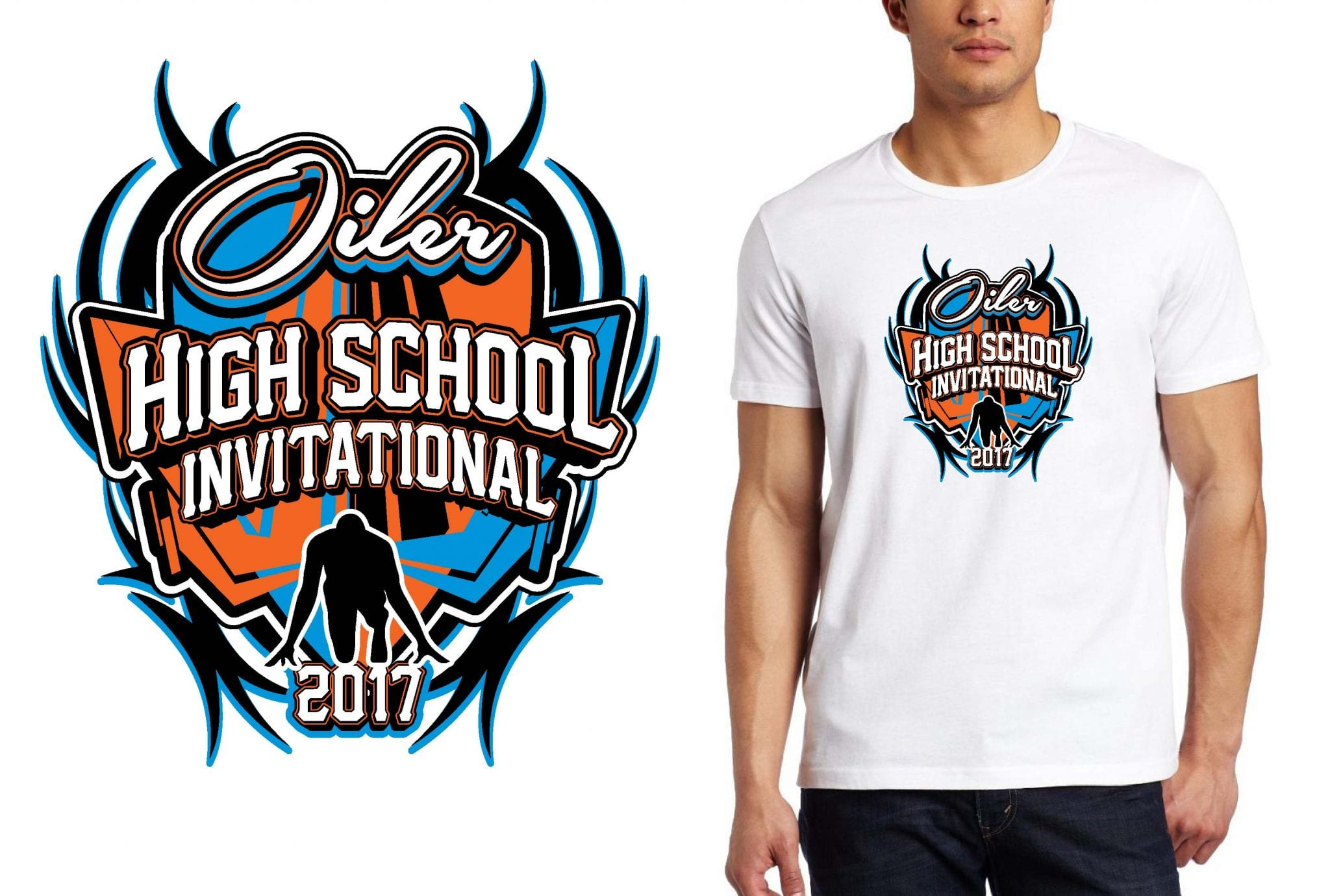 TRACK LOGO for Oiler High School Invitational T-SHIRT UrArtStudio