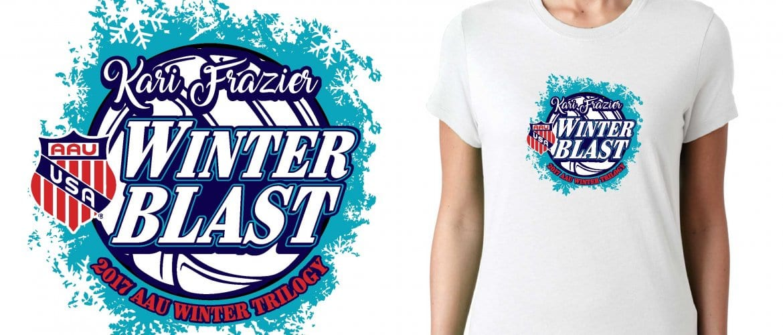 VOLLEYBALL LOGO for Kari Frazier Classic Volleyball Tournament for T-SHIRT UrArtStudio