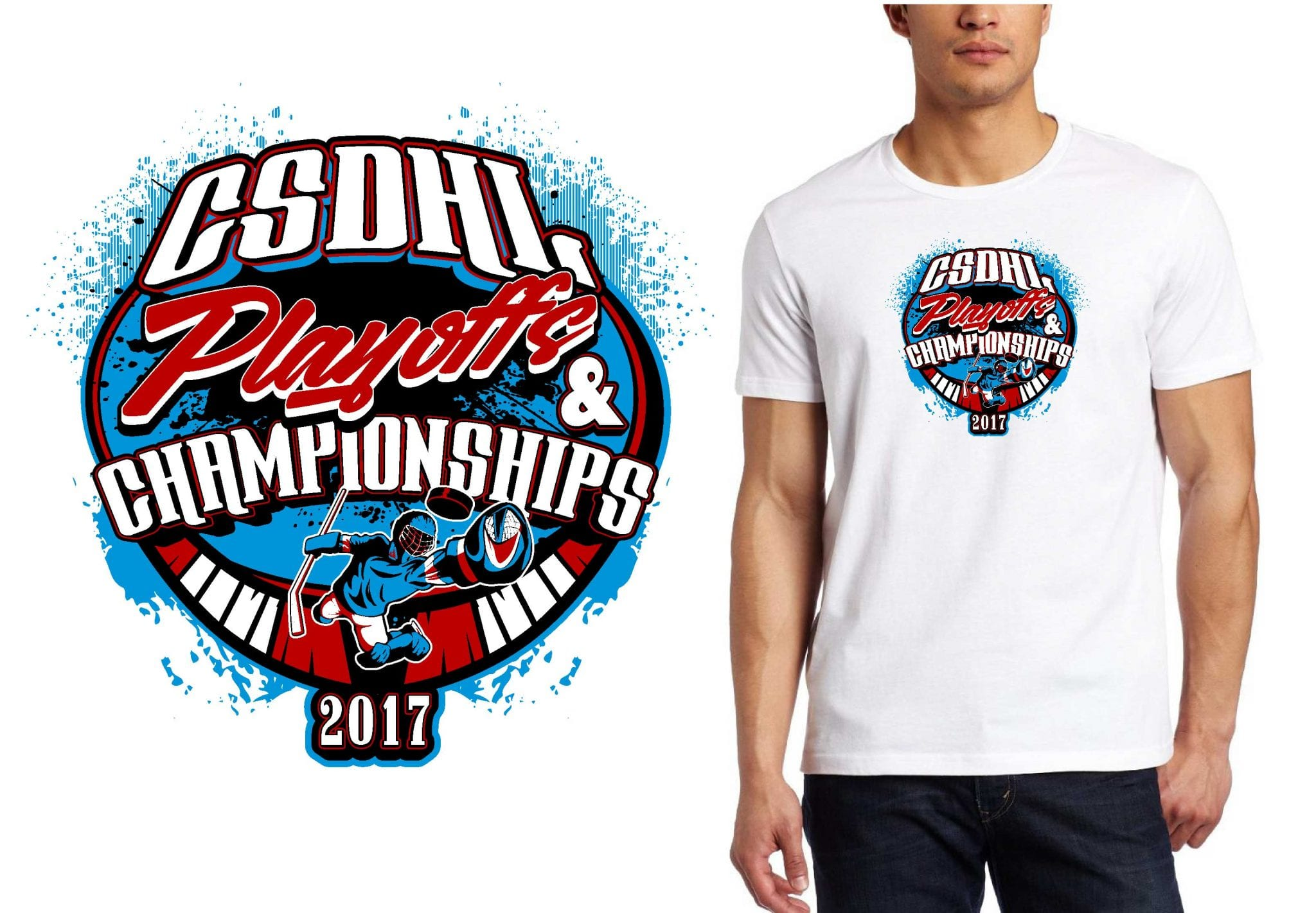 HOCKEY LOGO for CSDHL-Playoffs-Championships T-SHIRT UrArtStudio