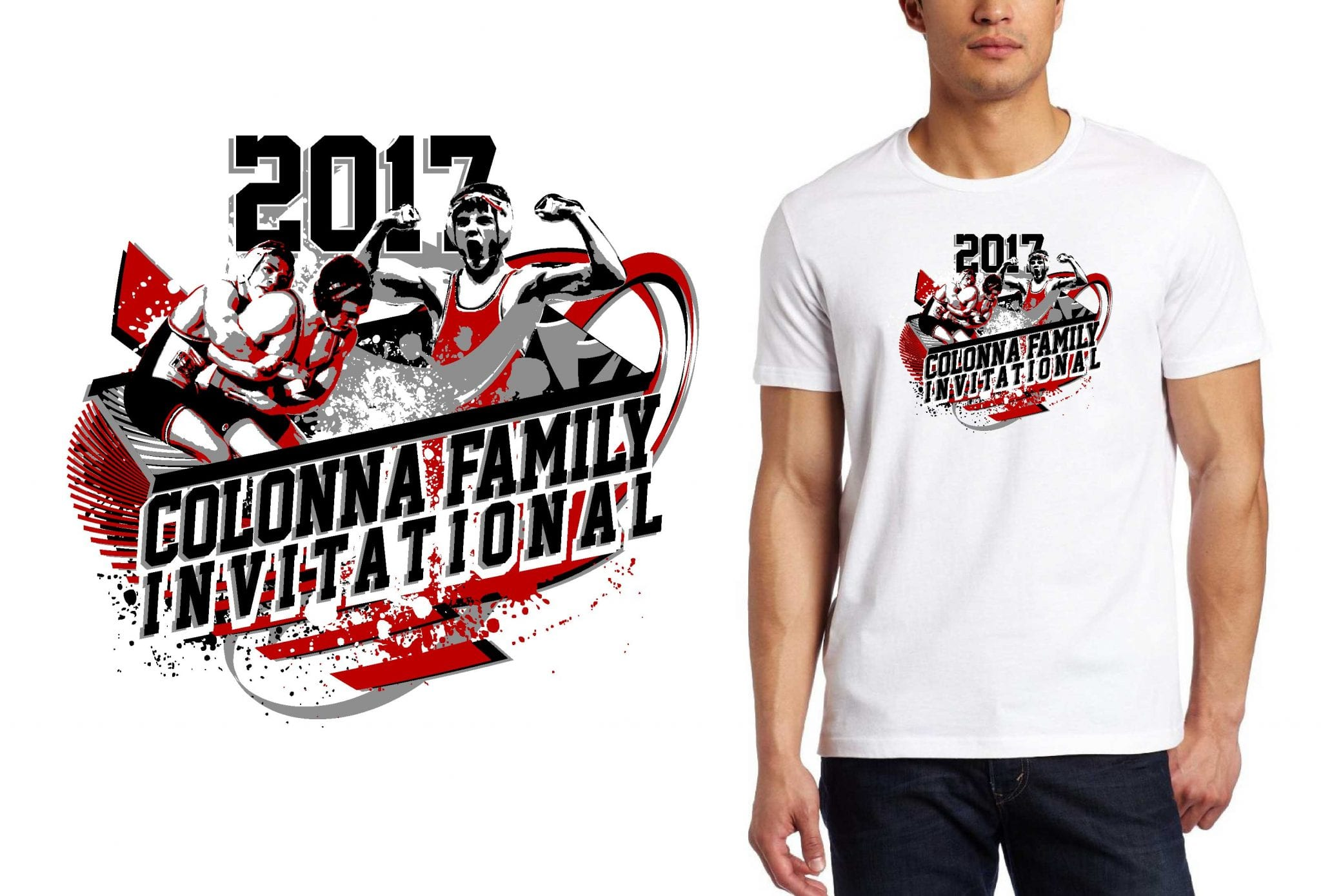 WRESTLING LOGO for Colonna-Family-Invitational T-SHIRT UrArtStudio