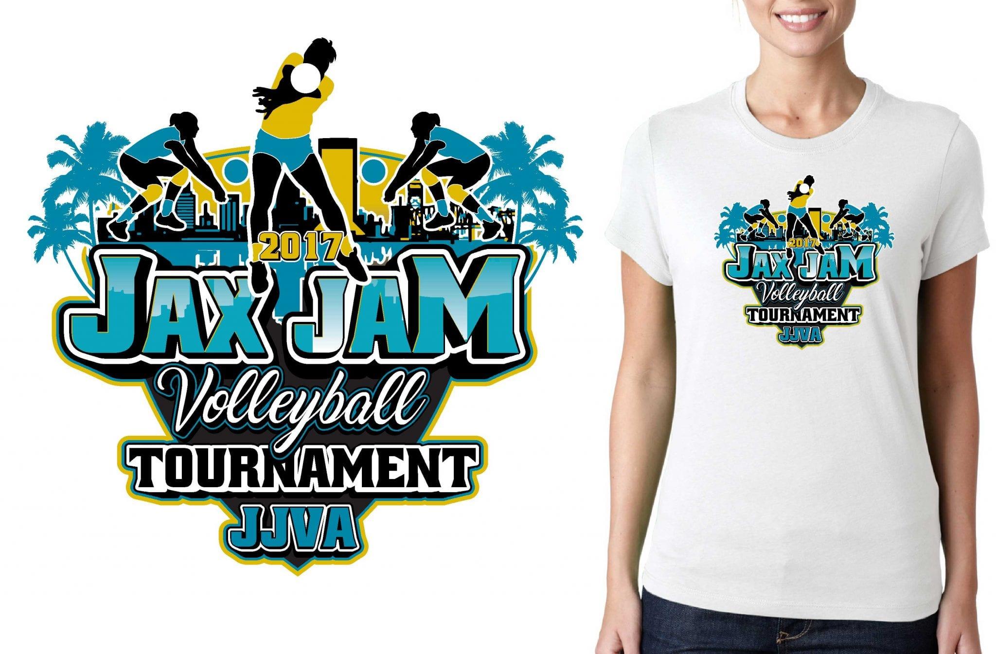 2017 JAX Jam vector logo design for t-shirt lacrosse urartstudio.com