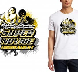 2017 Super Novice Tournament vector logo design for wrestling t-shirt UrArtStudio