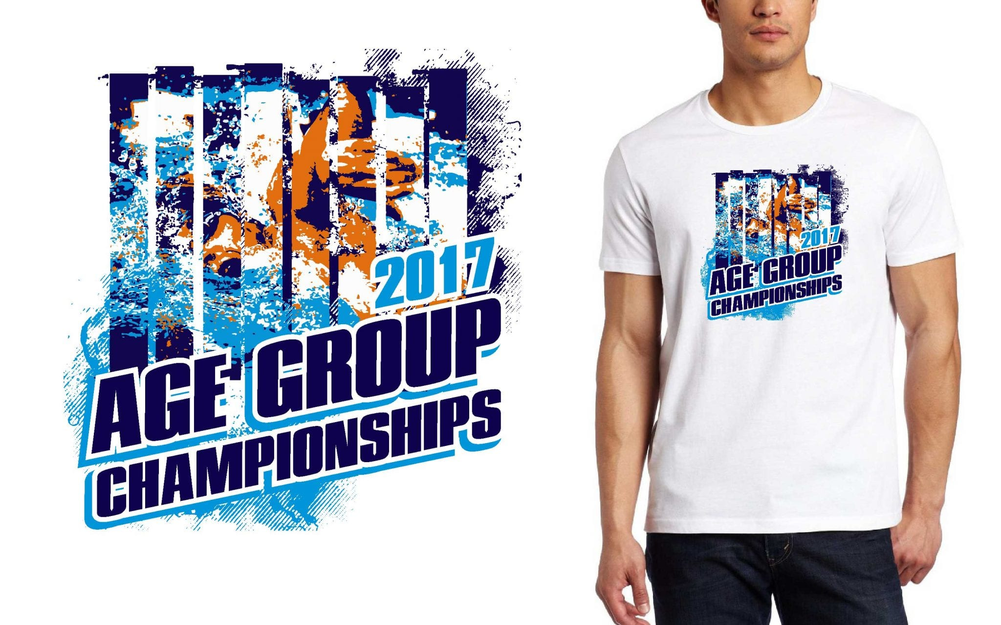 SWIMMING LOGO for NAge-Group-Championships T-SHIRT UrArtStudio