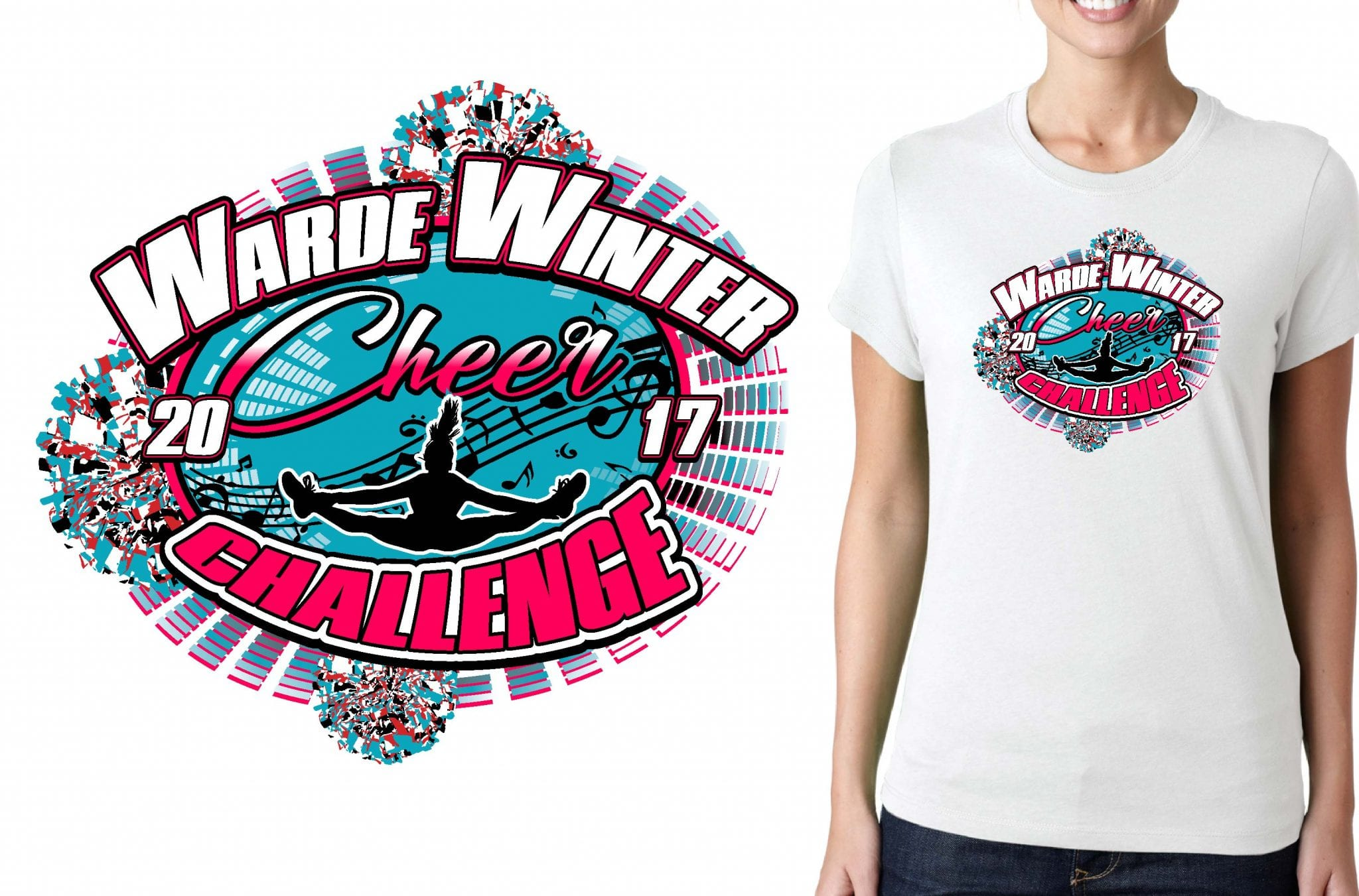 CHEER AND DANCE T SHIRT LOGO DESIGN Warde-Dance-Jam BY UrArtStudio