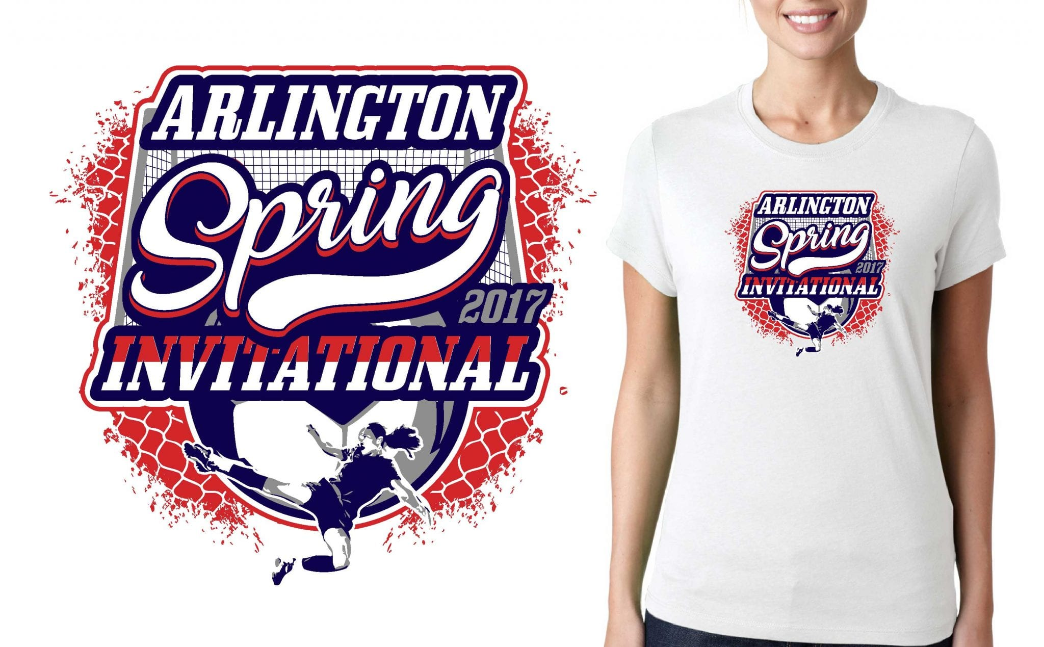 SOCCER TSHIRT LOGO DESIGN for 2017-Arlington-Spring-Invitational BY UrArtStudio