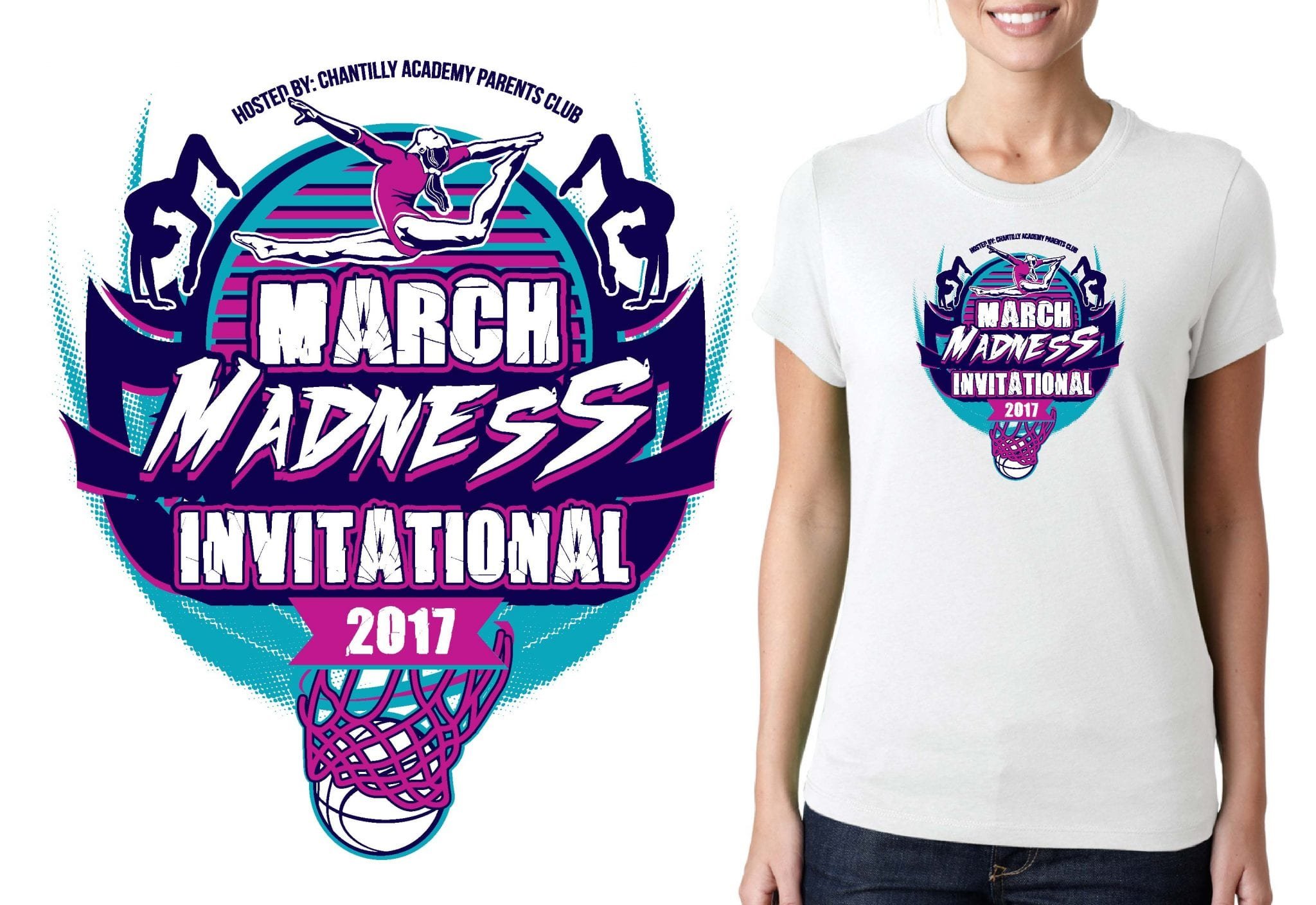 GYMNASTICS T SHIRT LOGO DESIGN March-Madness-roman BY UrArtStudio