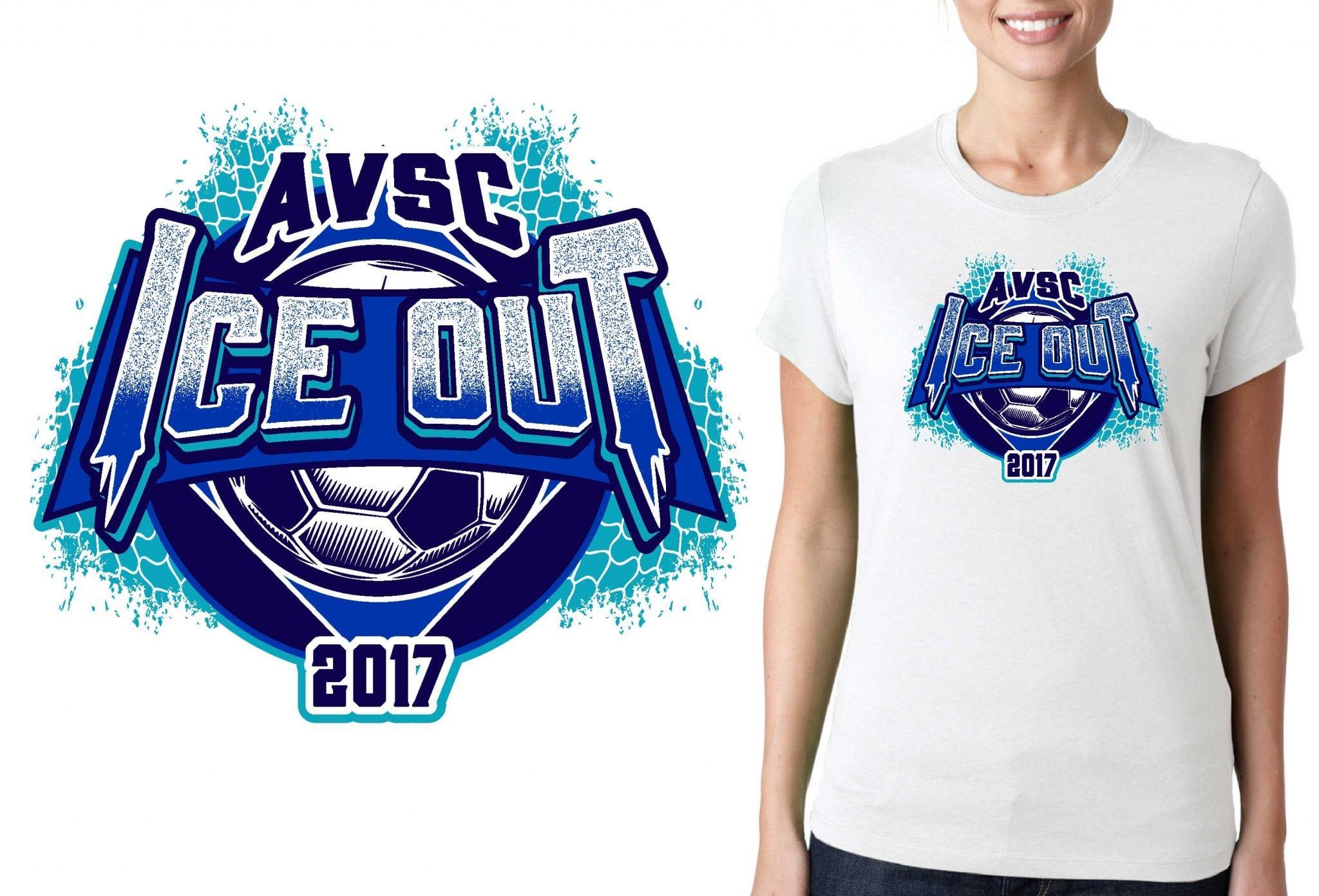 SOCCER TSHIRT LOGO DESIGN for 2017-AVSC-Ice-Out BY UrArtStudio