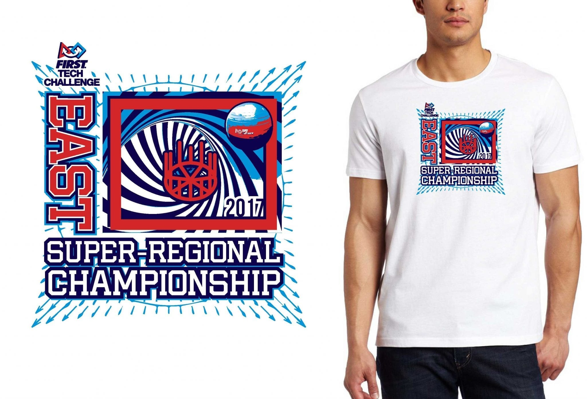 ROBOTICS LOGO for FTC-EAST-Super-Regional-Championship T-SHIRT UrArtStudio