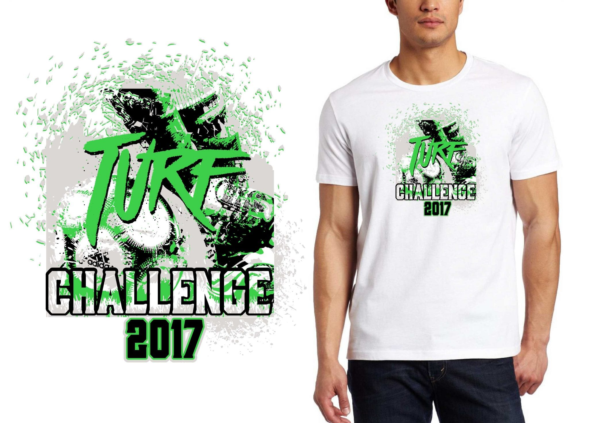 SOCCER LOGO for Turf Challenge T-SHIRT UrArtStudio