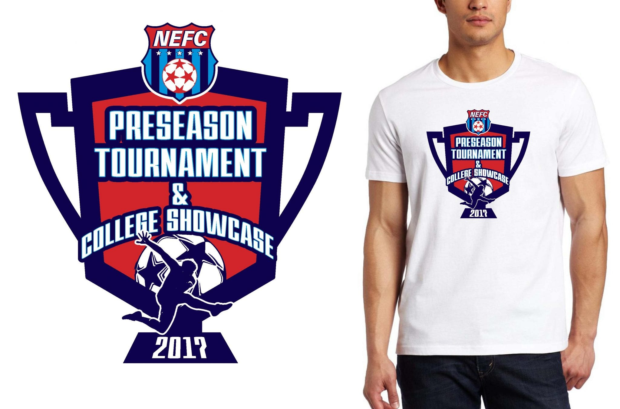 SOCCER LOGO for NEFC PreseasonBoys weekend T-SHIRT UrArtStudio