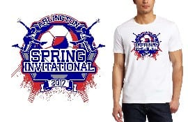 BOY SOCCER TSHIRT LOGO DESIGN for Arlington-Spring-Invitational BY UrArtStudio