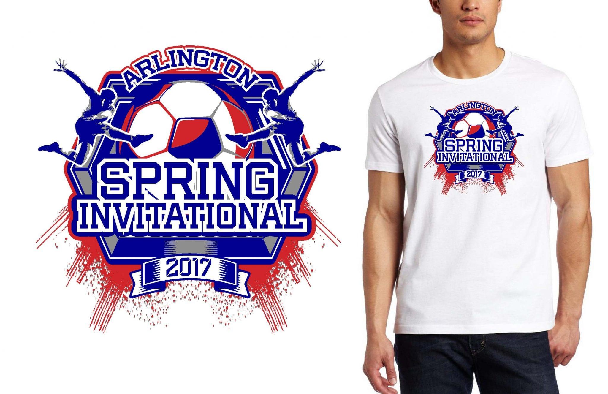 BOY SOCCER TSHIRT LOGO DESIGN for Arlington-Spring-Invitational BY UrArtStudio