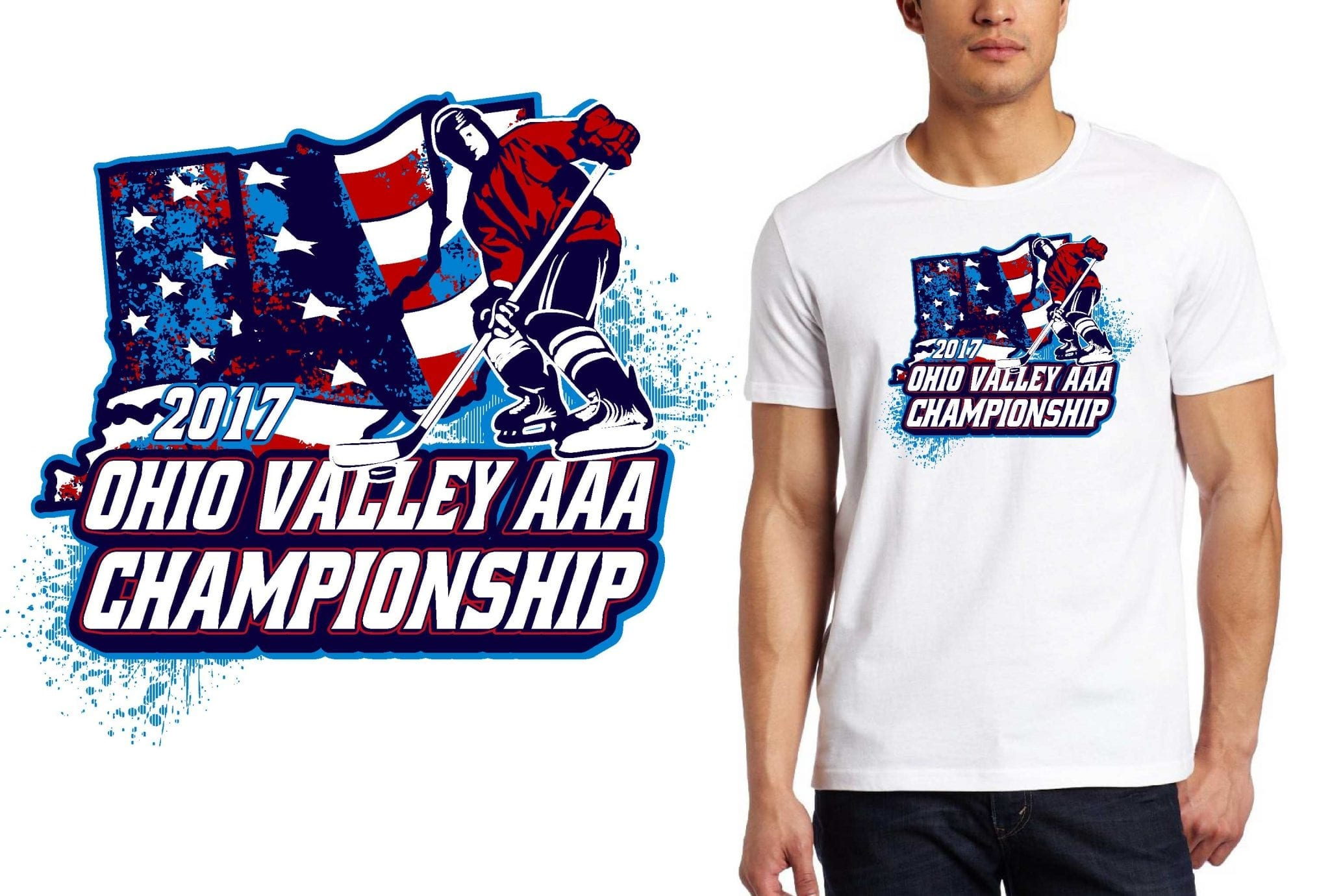 HOCKEY T SHIRT LOGO DESIGN Ohio-Valley-AAA-Championships BY UrArtStudio