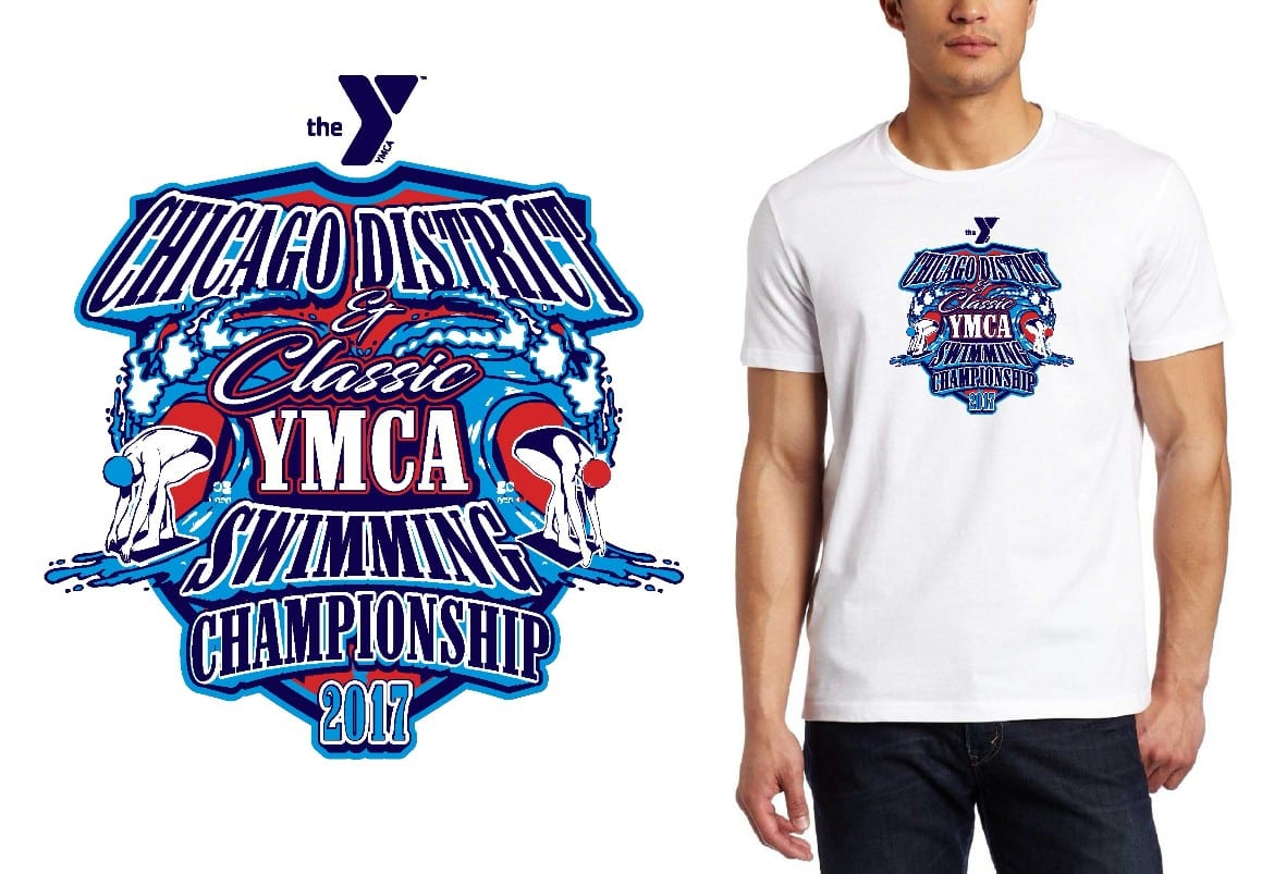 LOGO for Chicago-District-Classic-YMCA-Swimming-Championships T-SHIRT UrArtStudio