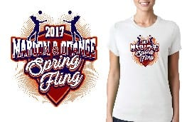 VOLLEYBALL TSHIRT LOGO DESIGN for 2017-Maroon-and-Orange-Spring-Fling BY UrArtStudio