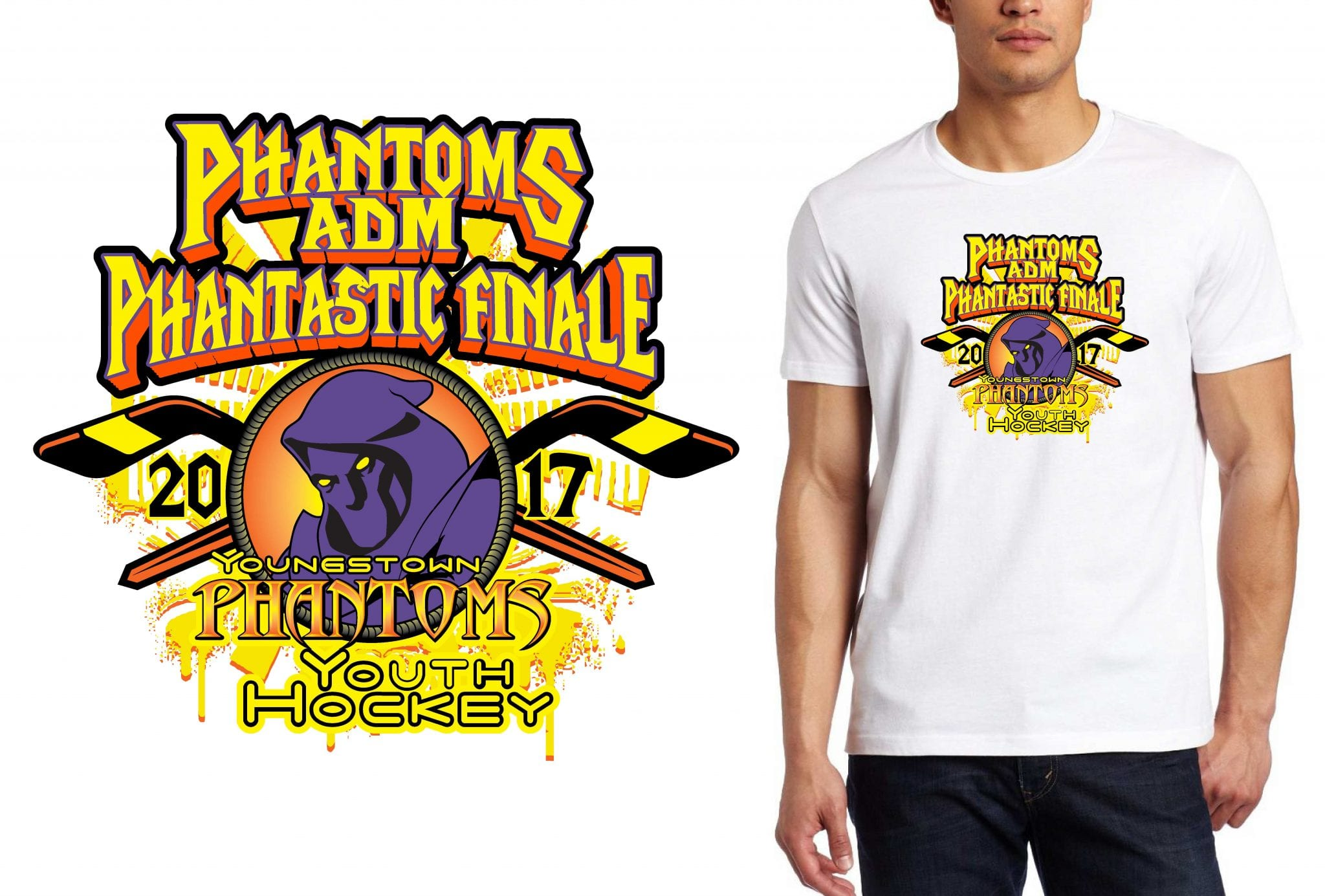 HOCKEY LOGO for Phantoms-Finals T-SHIRT UrArtStudio