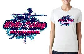 FIGURE SKATING TSHIRT LOGO DESIGN for 2017-Wells-Spring-Invitational BY UrArtStudio