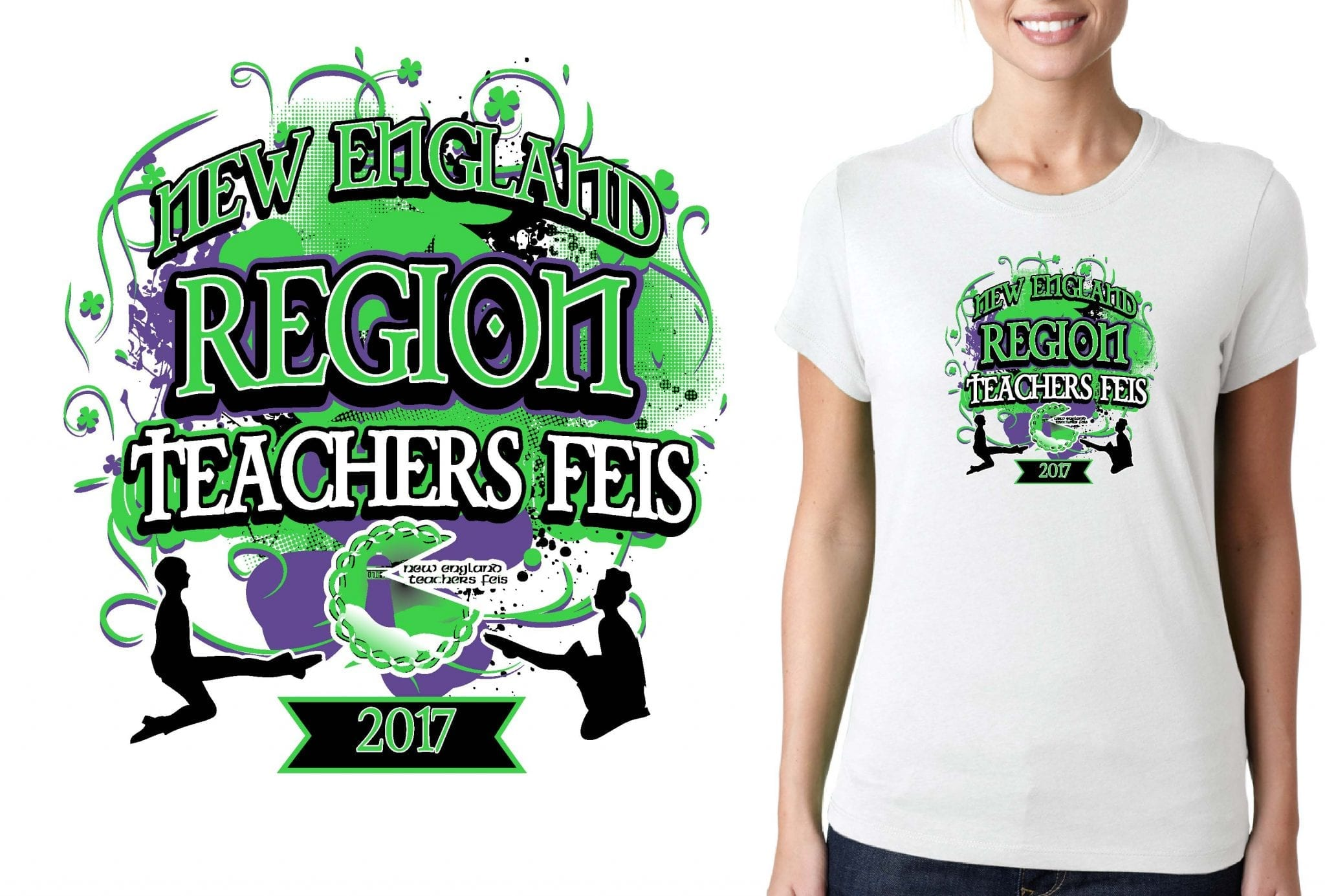 FEIS TSHIRT LOGO DESIGN for 2017-Irish-Dancing-Competition BY UrArtStudio