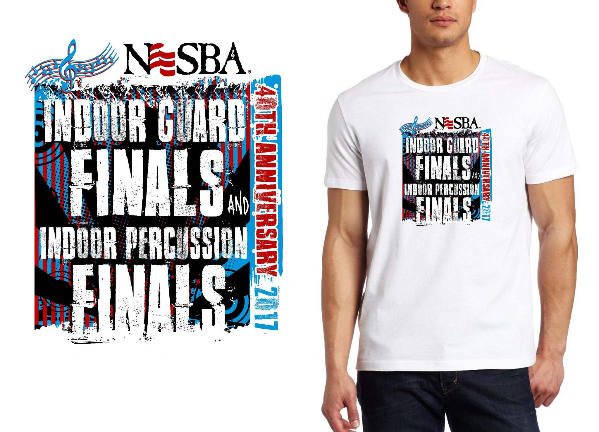 BAND T SHIRT LOGO DESIGN Indoor-Guard-Finals-and-Indoor-Percussion-Finals BY UrArtStudio