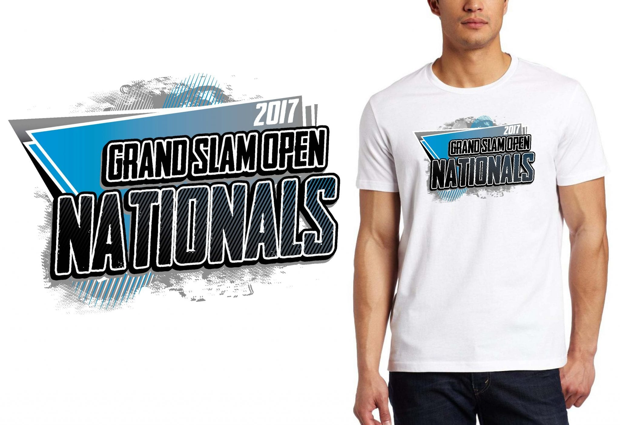 MARTIAL ARTS T SHIRT LOGO DESIGN Grand-Slam-Open-Nationals BY UrArtStudio