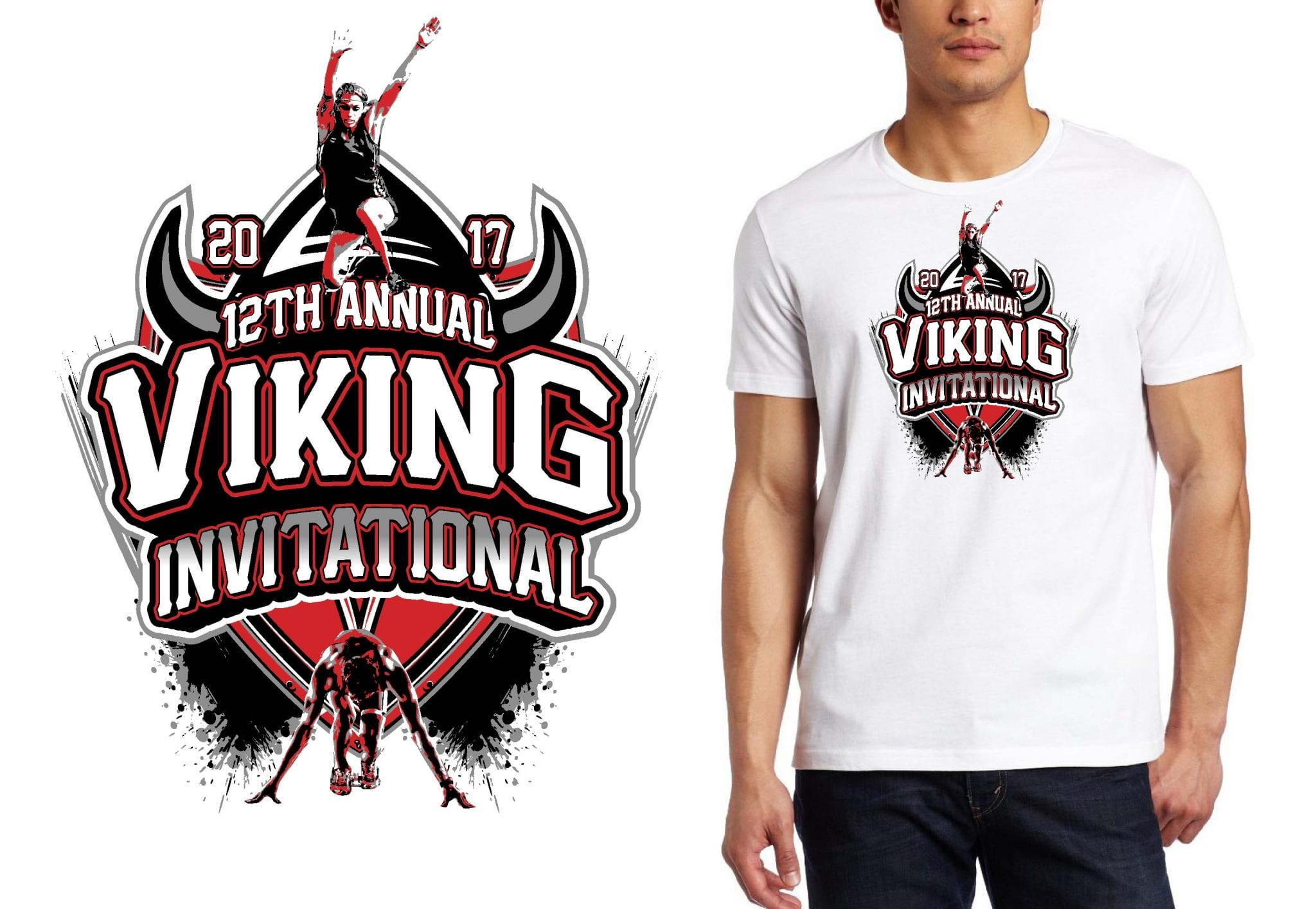 TRACK LOGO for Viking-Invitational T-SHIRT UrArtStudio
