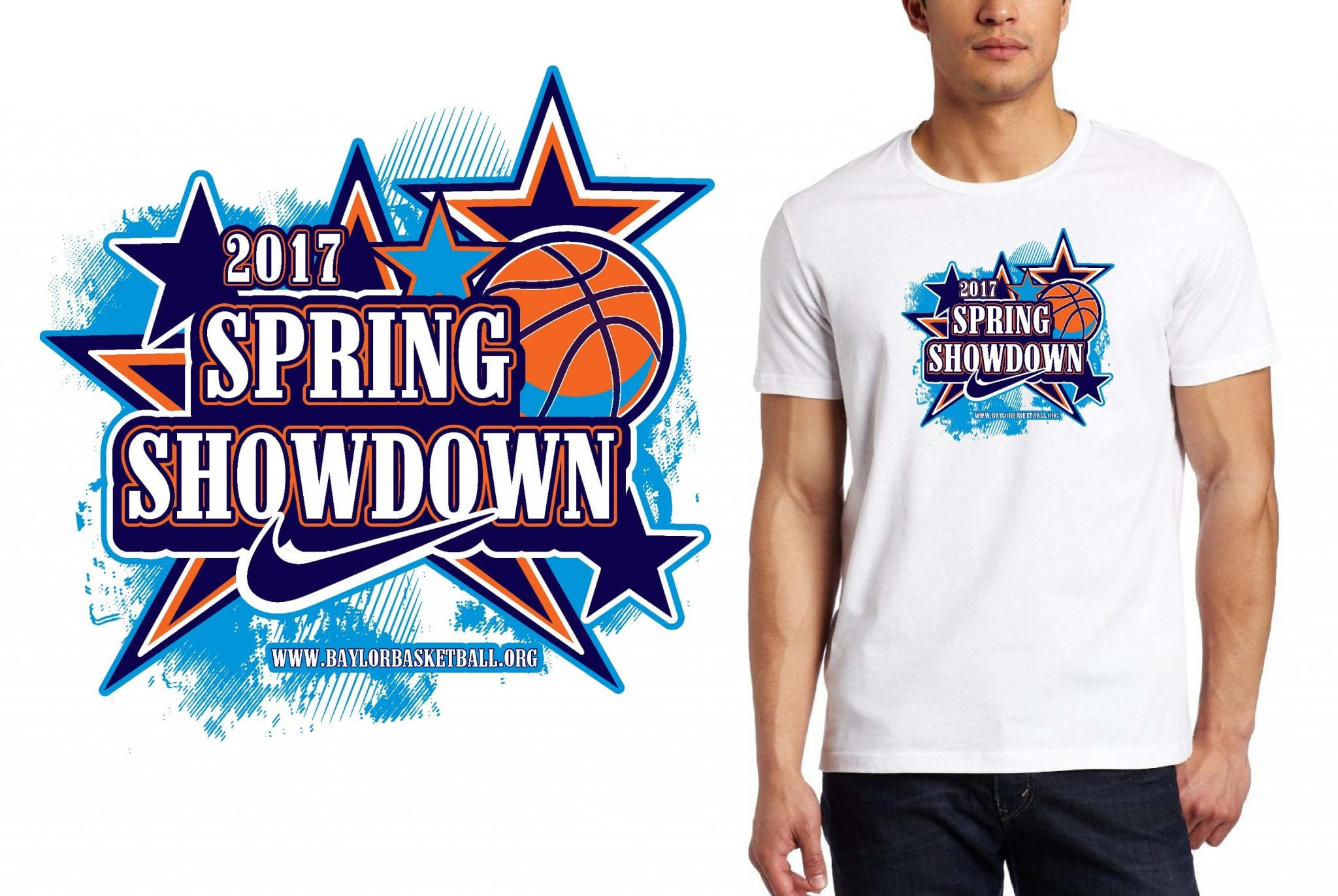BASKTEBALL LOGO for Nike-Spring-Showdown T-SHIRT UrArtStudio