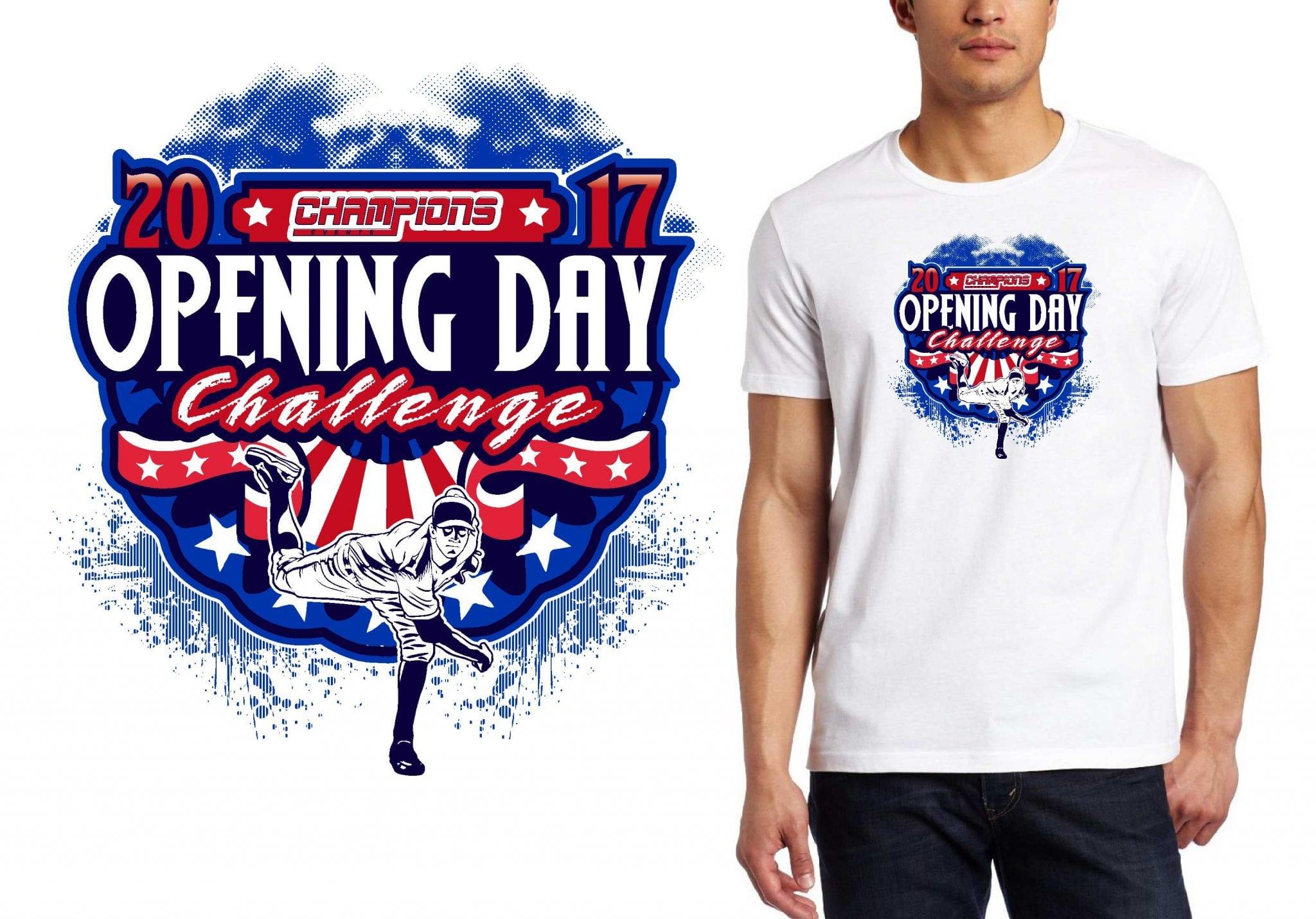 BASEBALL T-SHIRT LOGO DESIGN Opening-Day-Challenge BY UrArtStudio