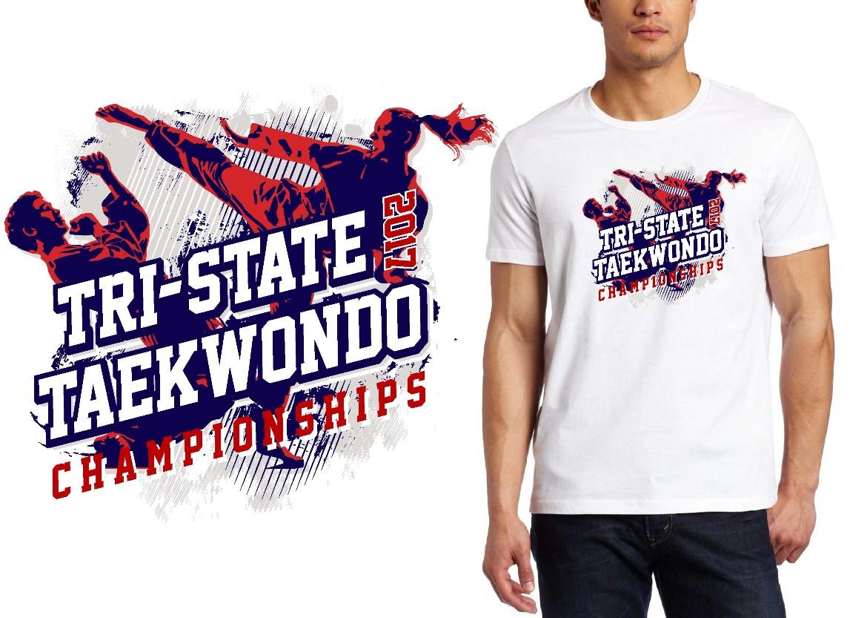 TAEKWONDO LOGO for Tri-State-TKD-Championships T-SHIRT UrArtStudio