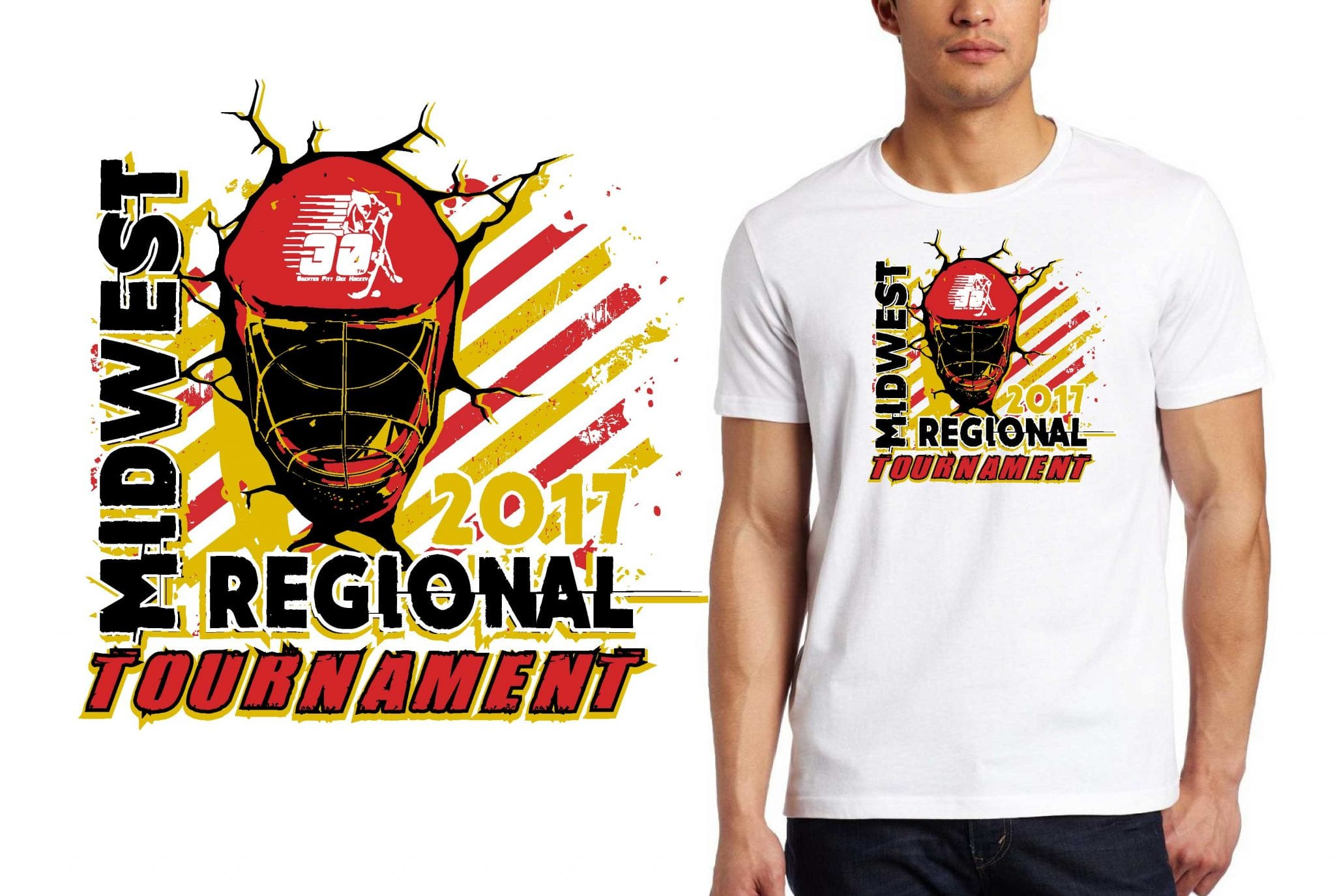 HOCKEY LOGO for Midwest-Regional-Tournament T-SHIRT UrArtStudio