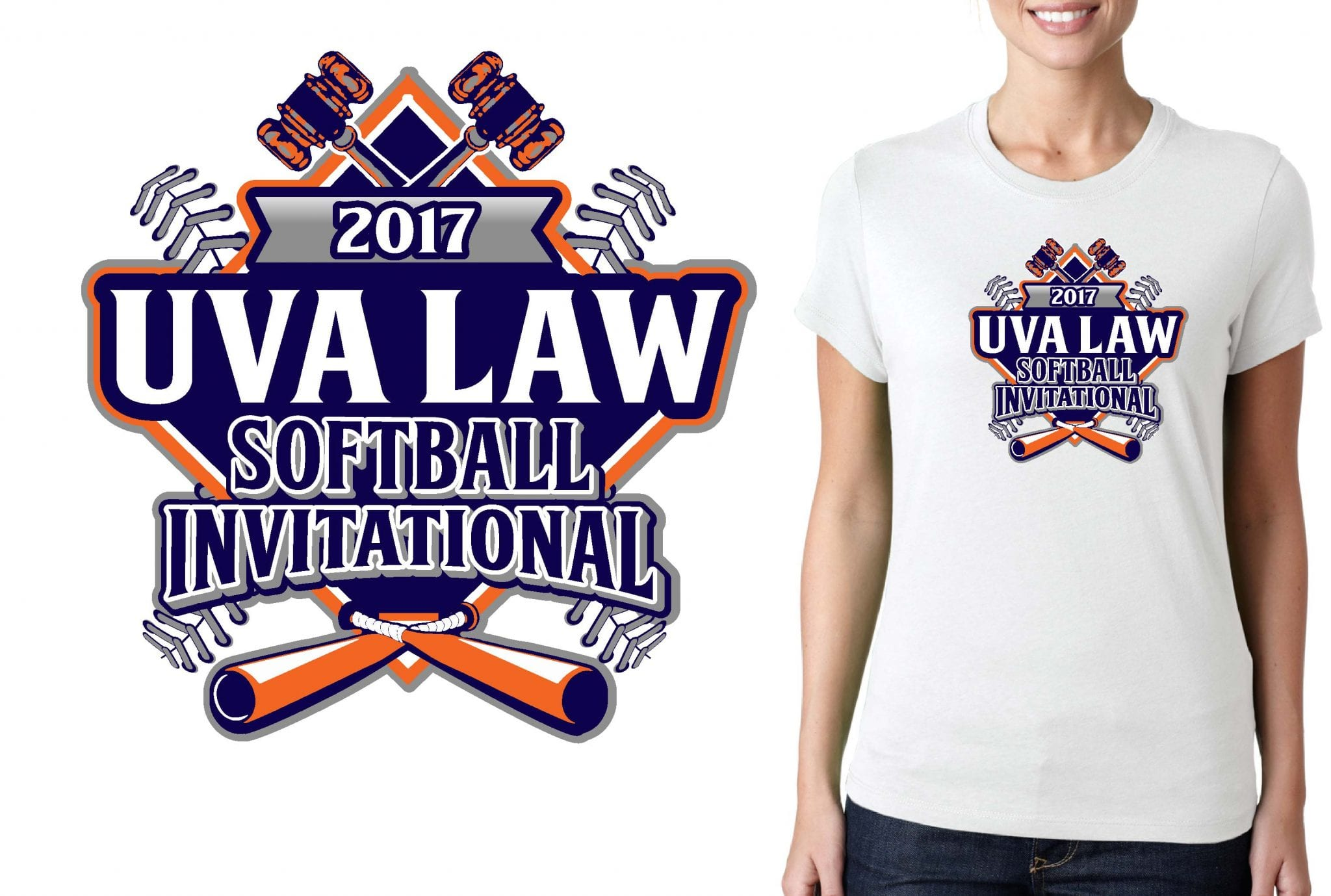 SOFTBALL LOGO for 34rd-Annual-UVA-Law T-SHIRT UrArtStudio